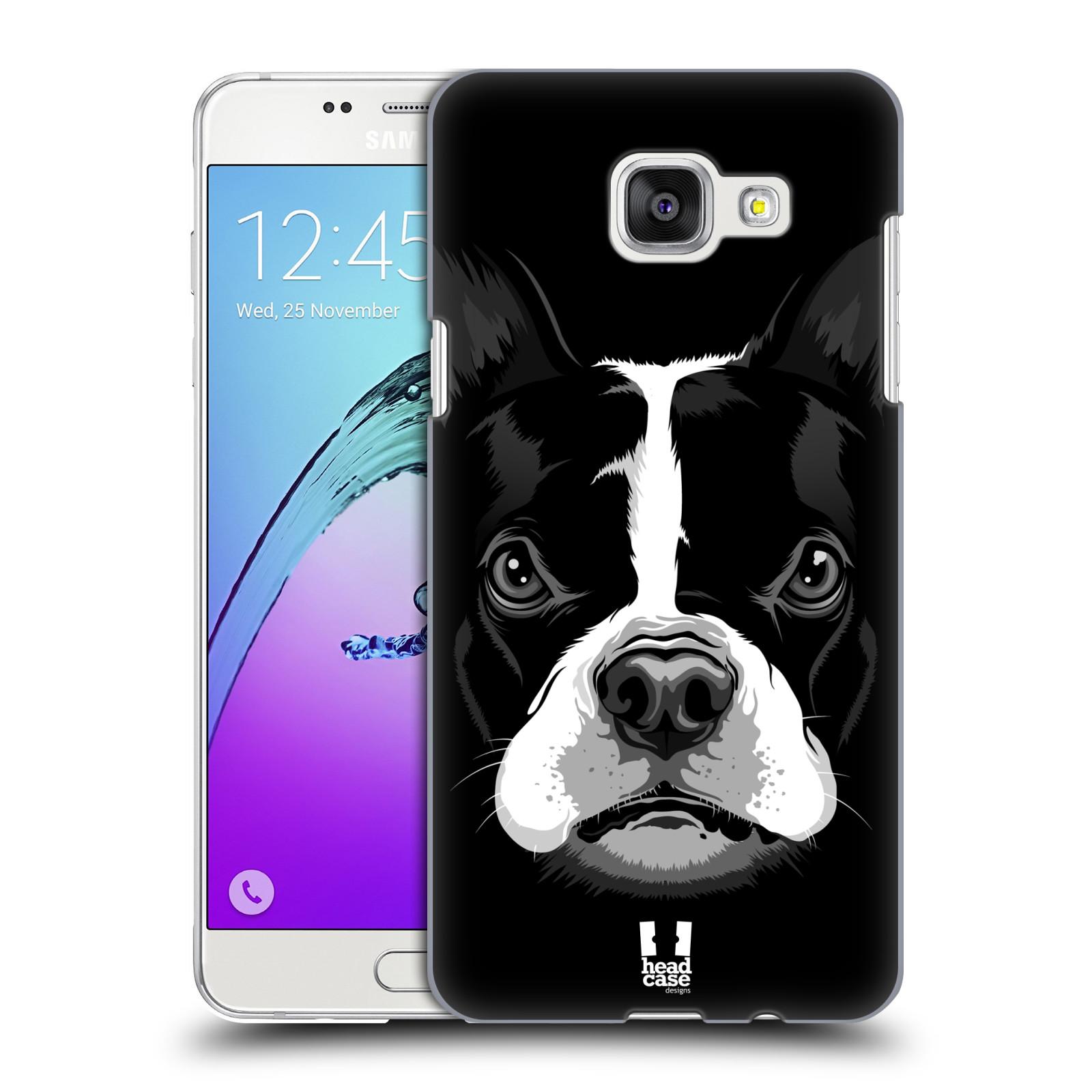 Plastové pouzdro na mobil Samsung Galaxy A5 (2016) HEAD CASE ILUSTROVANÝ BULDOČEK