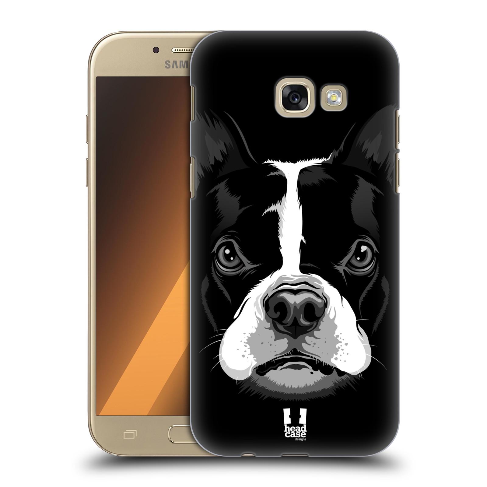 Plastové pouzdro na mobil Samsung Galaxy A5 (2017) HEAD CASE ILUSTROVANÝ BULDOČEK