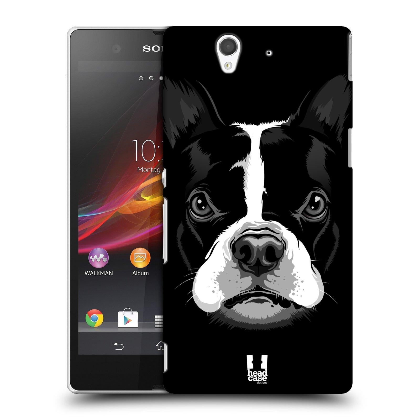 Plastové pouzdro na mobil Sony Xperia Z C6603 HEAD CASE ILUSTROVANÝ BULDOČEK