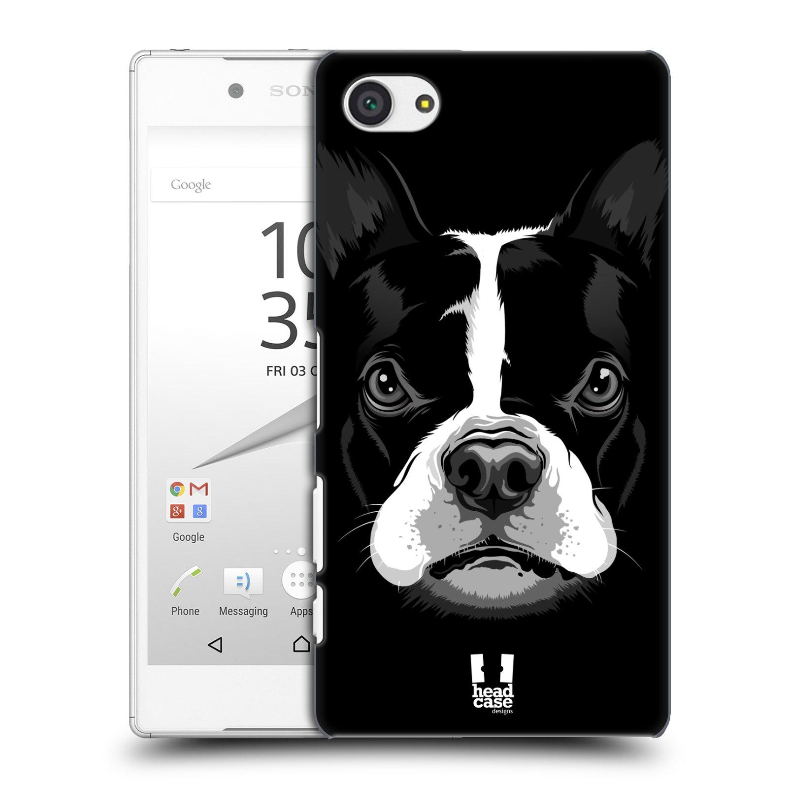 Plastové pouzdro na mobil Sony Xperia Z5 Compact HEAD CASE ILUSTROVANÝ BULDOČEK