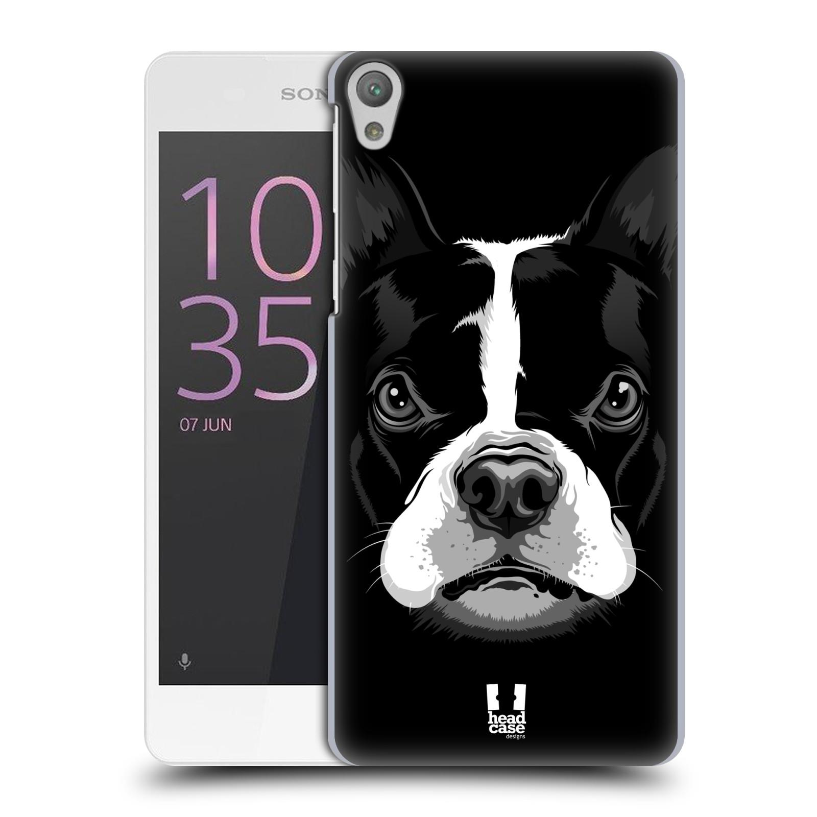 Plastové pouzdro na mobil Sony Xperia E5 HEAD CASE ILUSTROVANÝ BULDOČEK