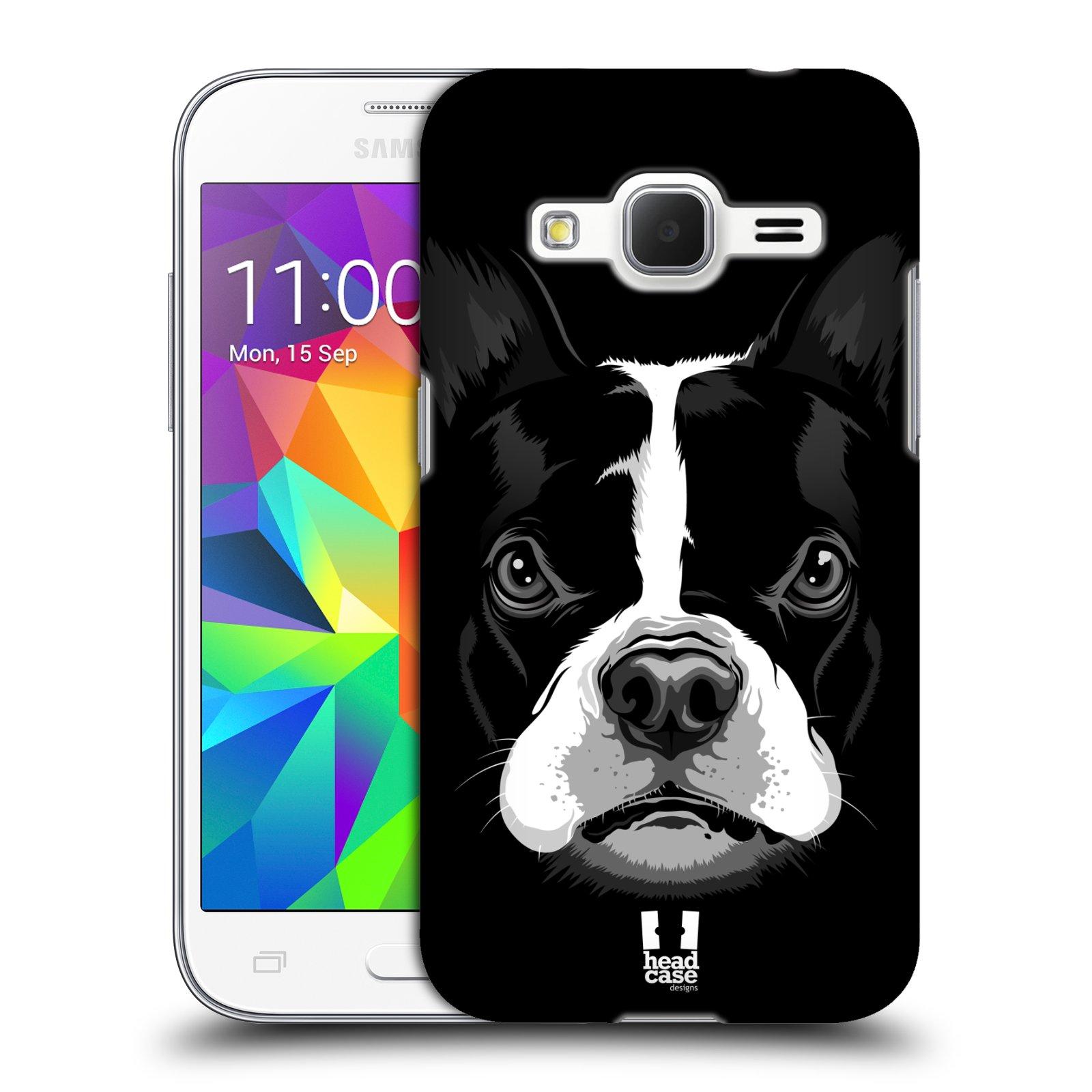 Plastové pouzdro na mobil Samsung Galaxy Core Prime LTE HEAD CASE ILUSTROVANÝ BULDOČEK