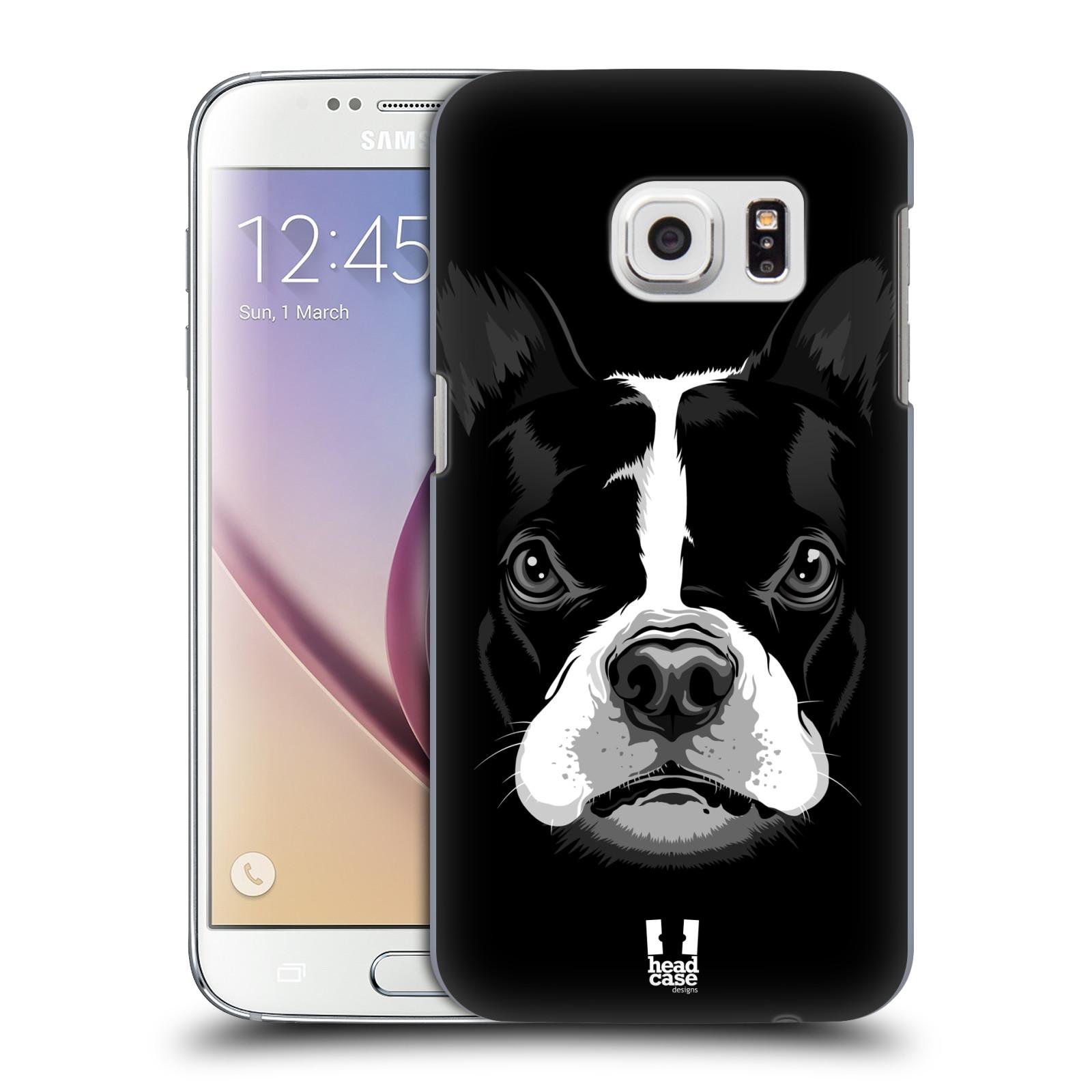 Plastové pouzdro na mobil Samsung Galaxy S7 HEAD CASE ILUSTROVANÝ BULDOČEK (Kryt či obal na mobilní telefon Samsung Galaxy S7 SM-G930F)
