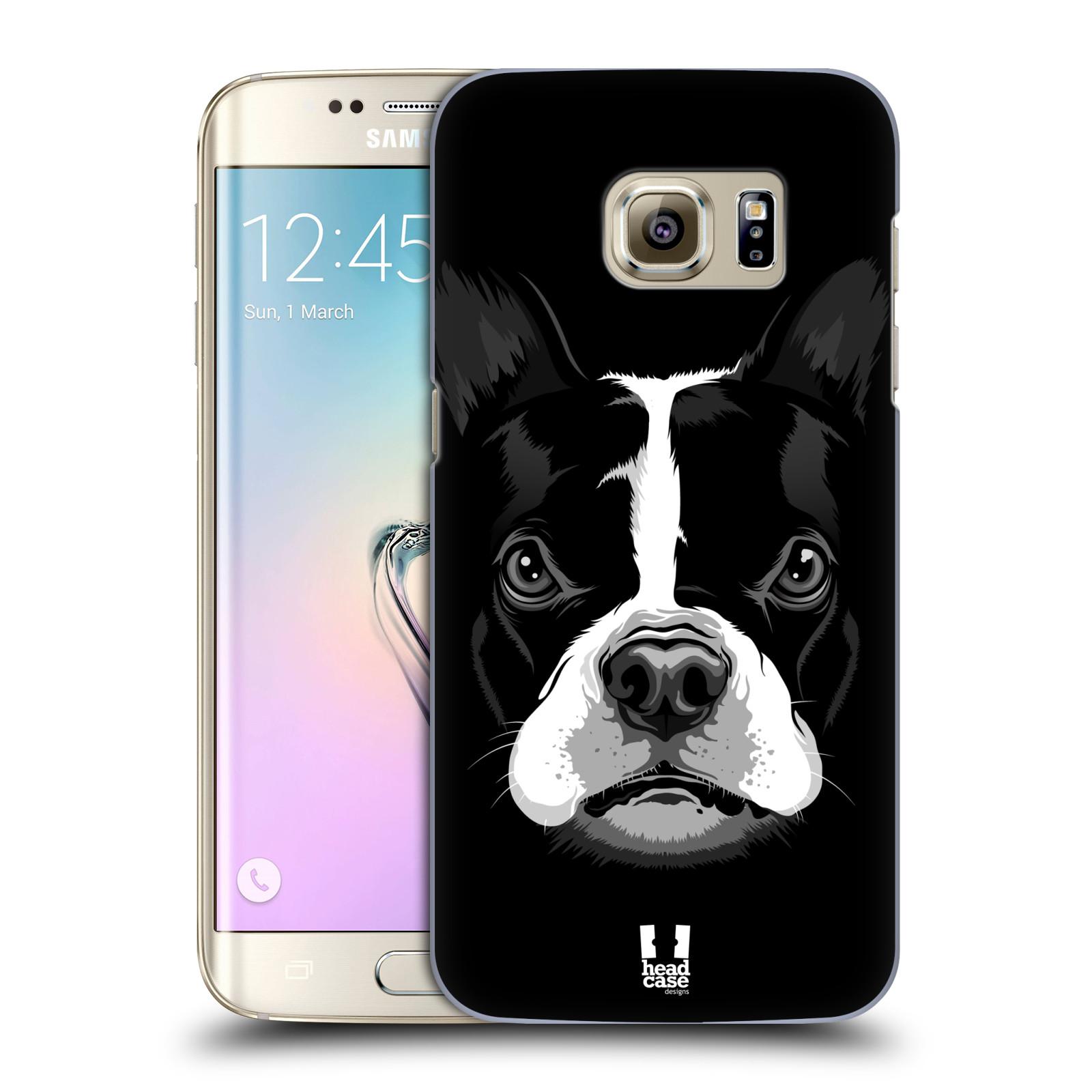 Plastové pouzdro na mobil Samsung Galaxy S7 Edge HEAD CASE ILUSTROVANÝ BULDOČEK