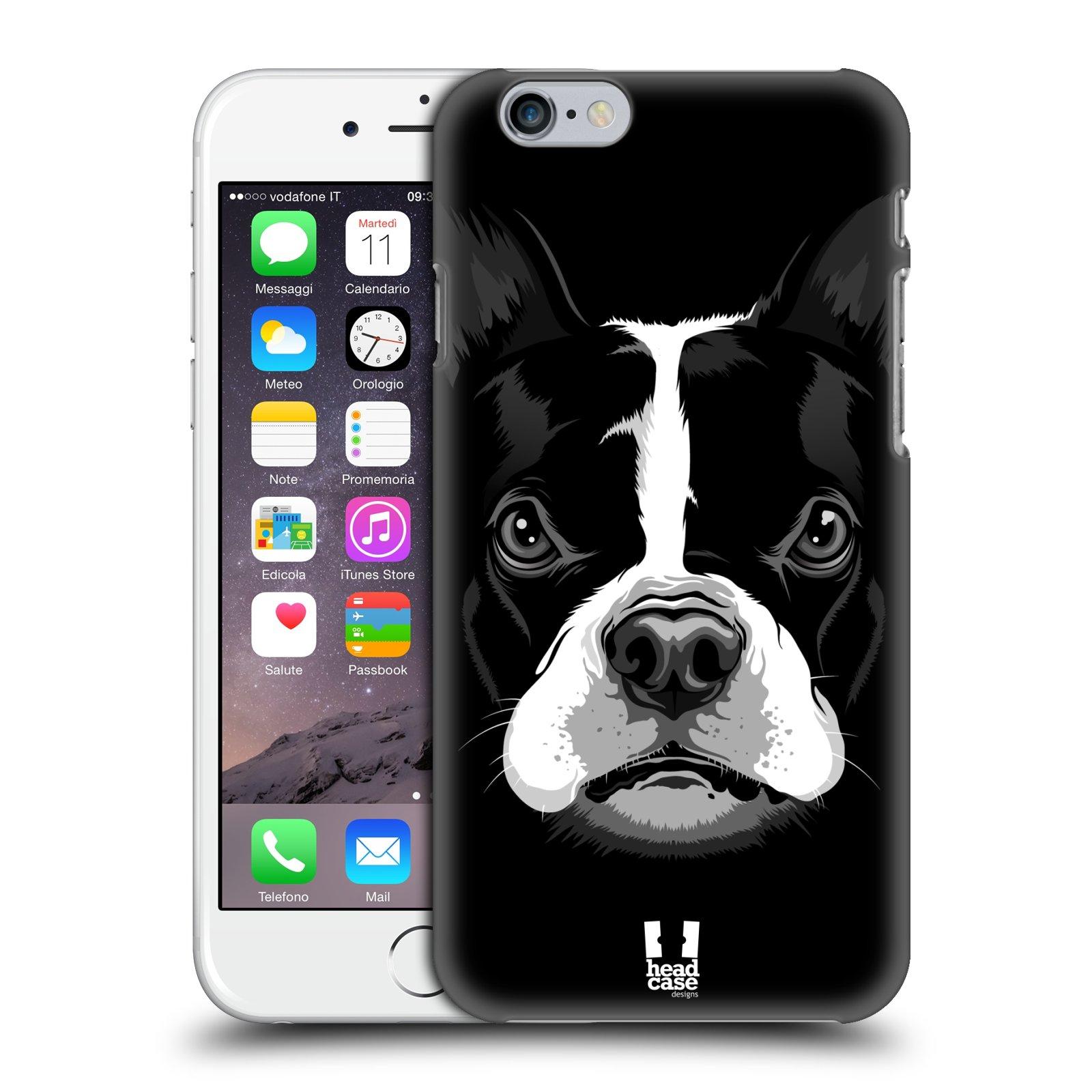 Plastové pouzdro na mobil Apple iPhone 6 a 6S HEAD CASE ILUSTROVANÝ BULDOČEK