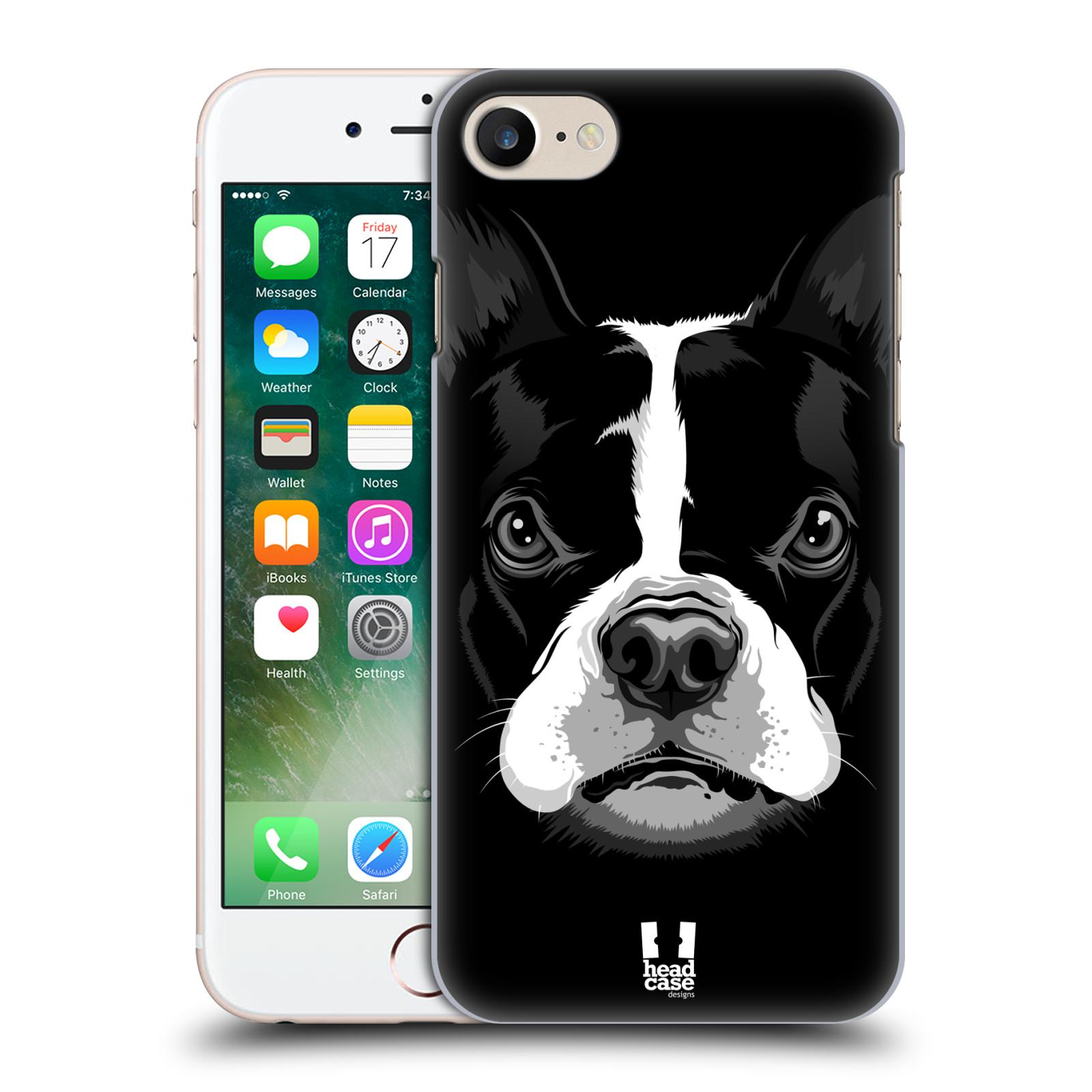 Plastové pouzdro na mobil Apple iPhone 7 HEAD CASE ILUSTROVANÝ BULDOČEK