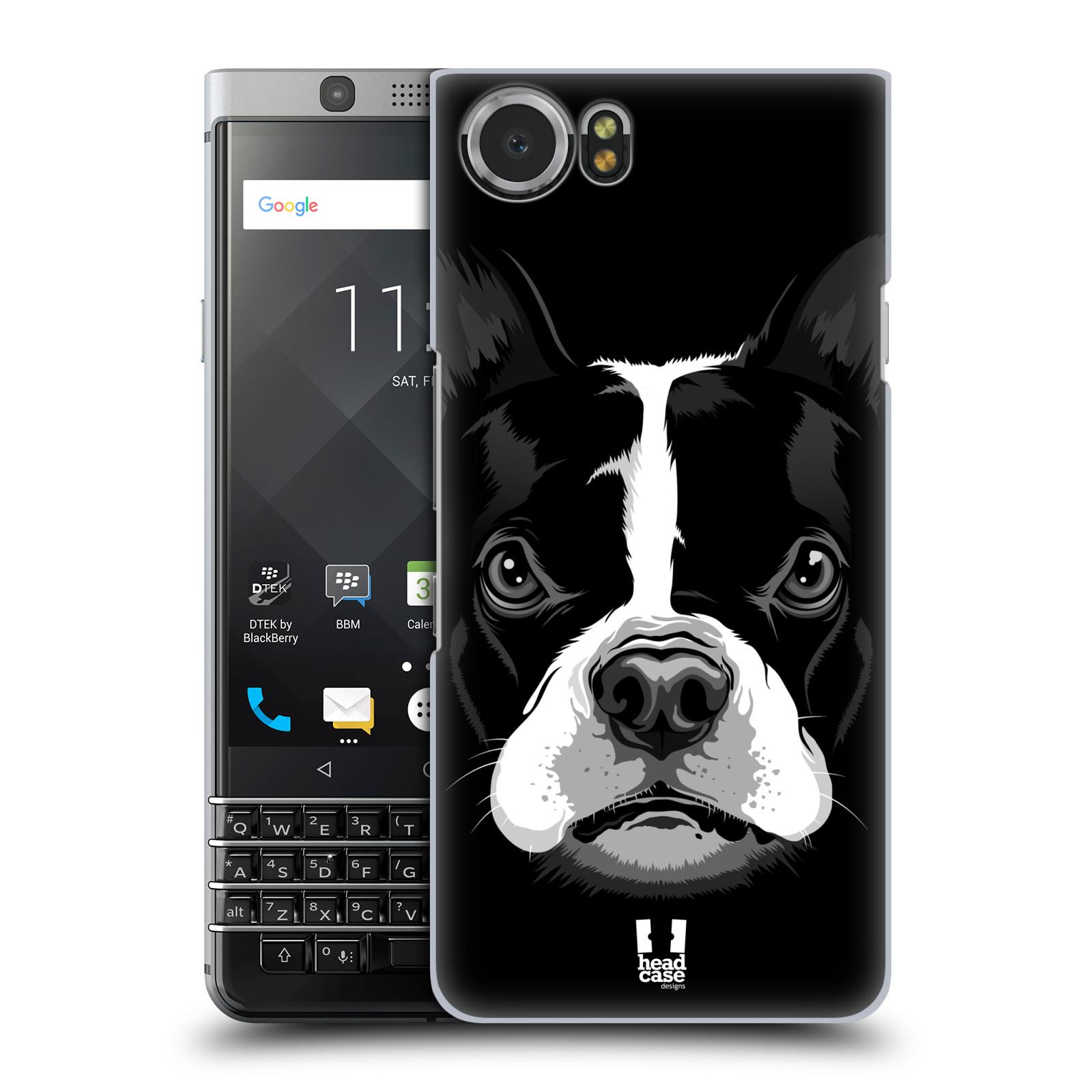 Plastové pouzdro na mobil BlackBerry KEYone - Head Case - ILUSTROVANÝ BULDOČEK