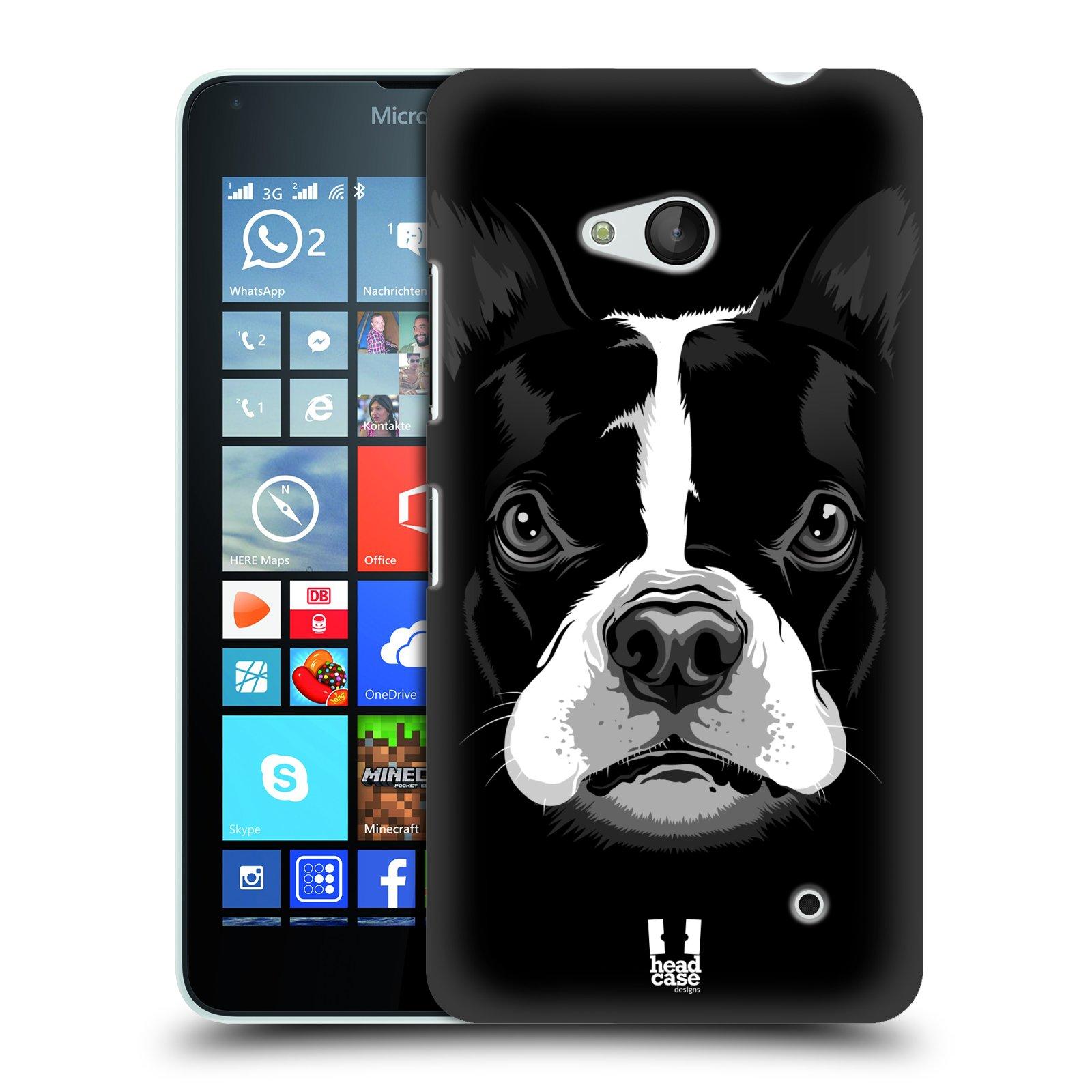 Plastové pouzdro na mobil Microsoft Lumia 640 HEAD CASE ILUSTROVANÝ BULDOČEK