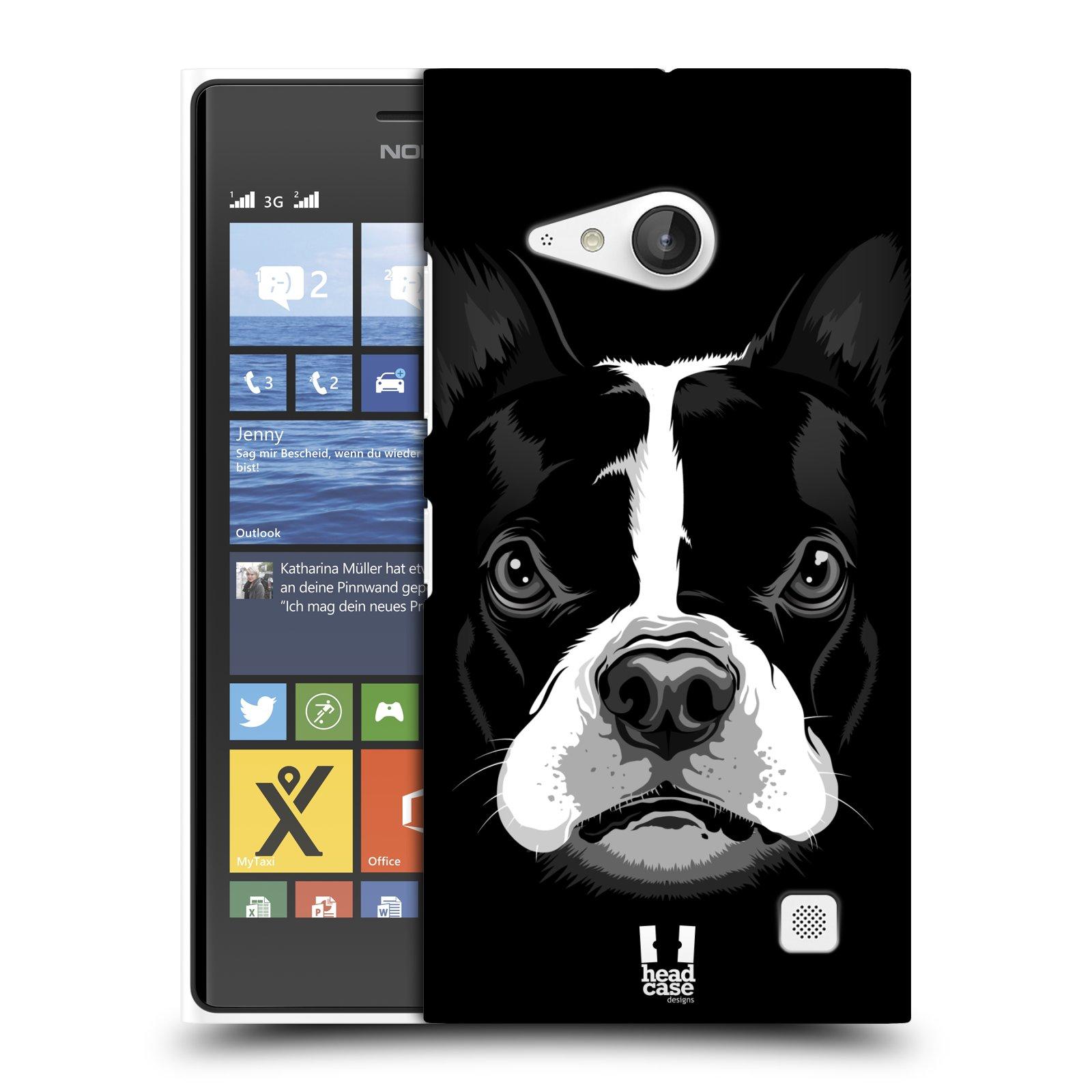 Plastové pouzdro na mobil Nokia Lumia 735 HEAD CASE ILUSTROVANÝ BULDOČEK