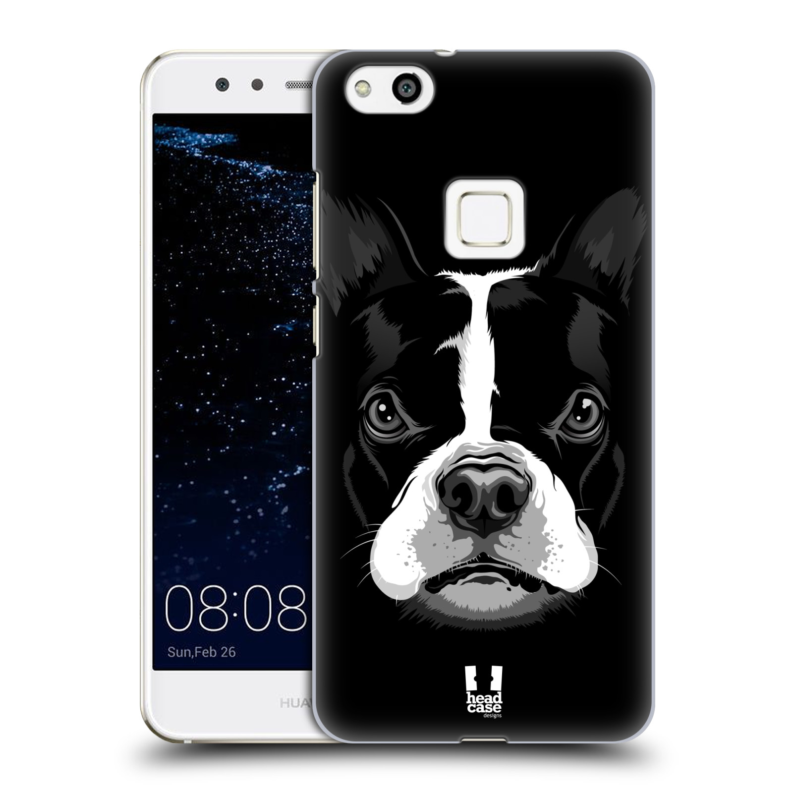 Plastové pouzdro na mobil Huawei P10 Lite Head Case - ILUSTROVANÝ BULDOČEK (Plastový kryt či obal na mobilní telefon Huawei P10 Lite Dual SIM (LX1/LX1A))