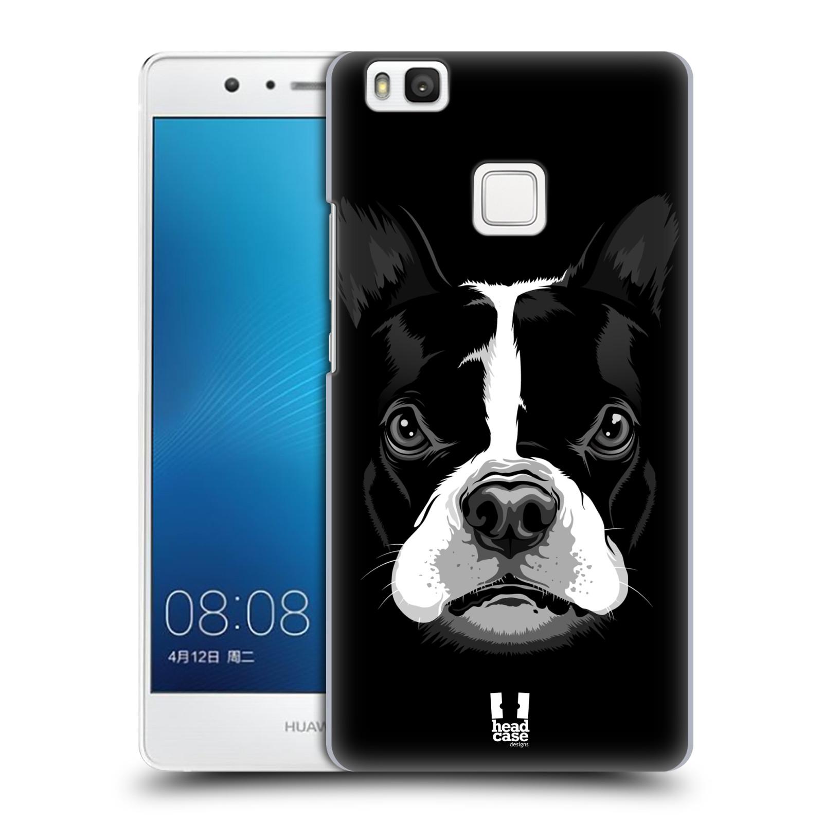 Plastové pouzdro na mobil Huawei P9 Lite HEAD CASE ILUSTROVANÝ BULDOČEK