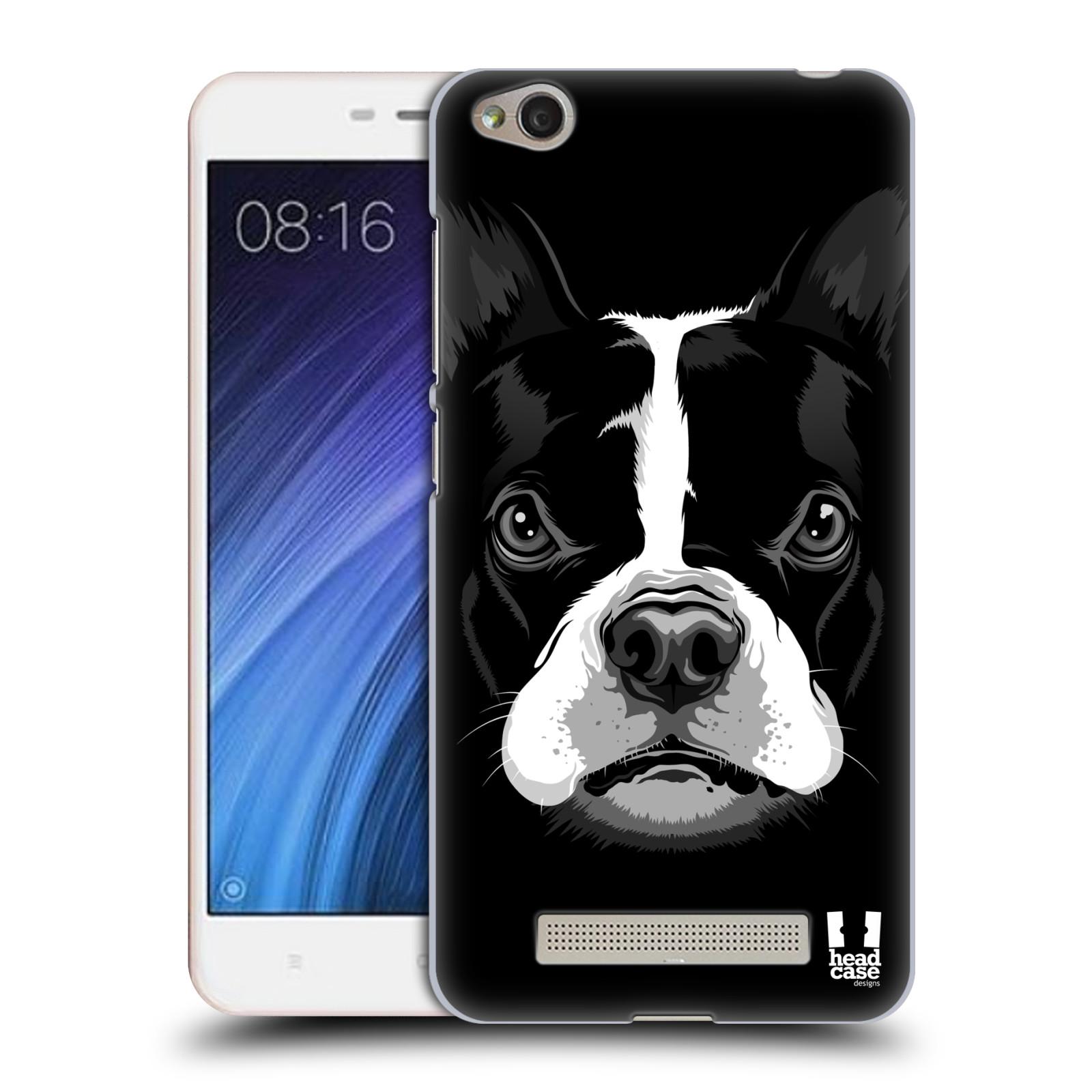 Plastové pouzdro na mobil Xiaomi Redmi 4A HEAD CASE ILUSTROVANÝ BULDOČEK