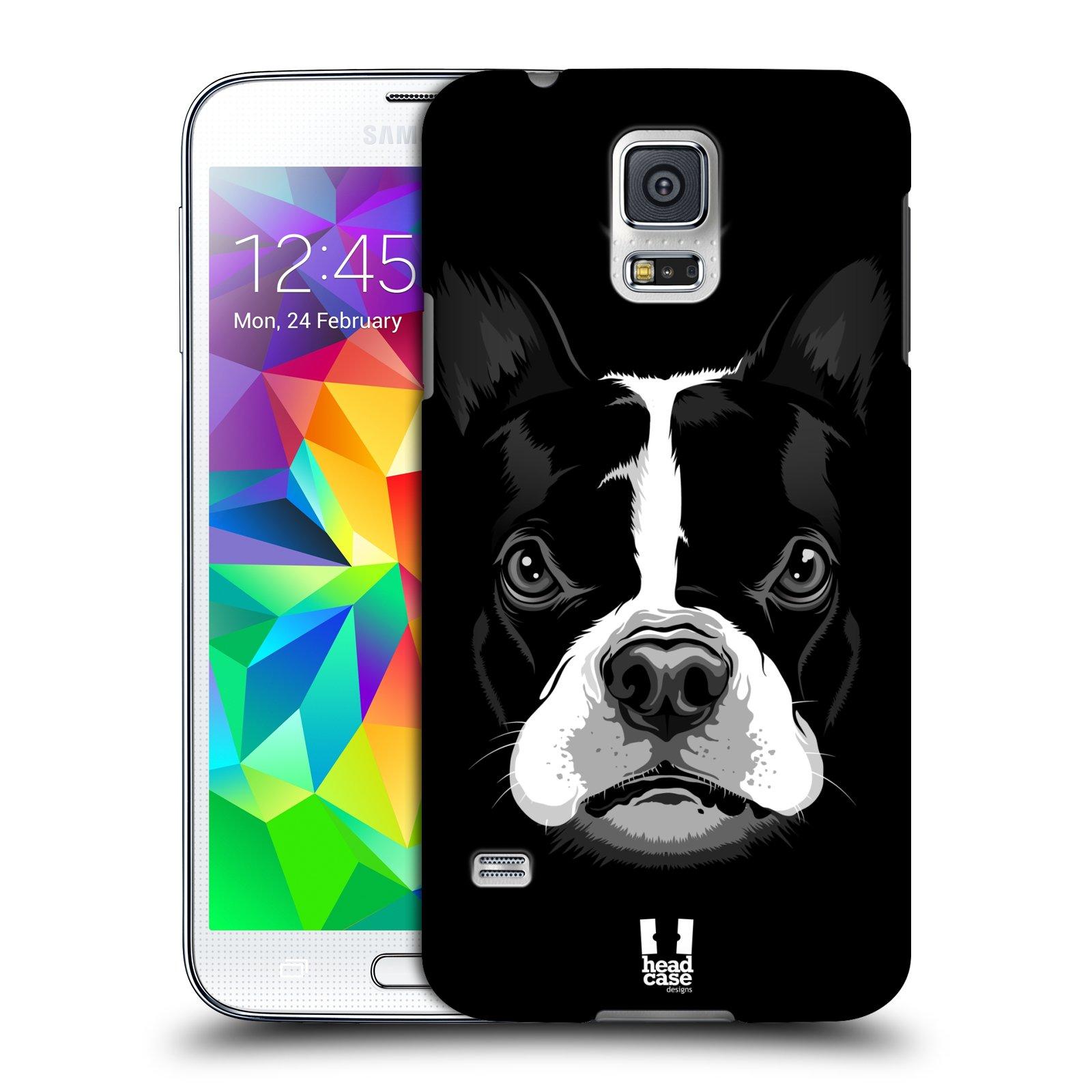 Plastové pouzdro na mobil Samsung Galaxy S5 HEAD CASE ILUSTROVANÝ BULDOČEK