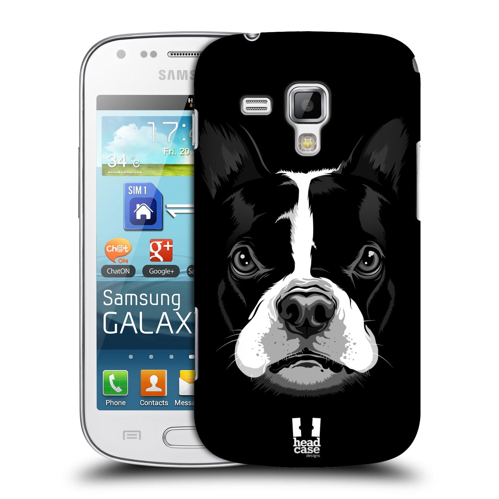 Plastové pouzdro na mobil Samsung Galaxy Trend Plus HEAD CASE ILUSTROVANÝ BULDOČEK