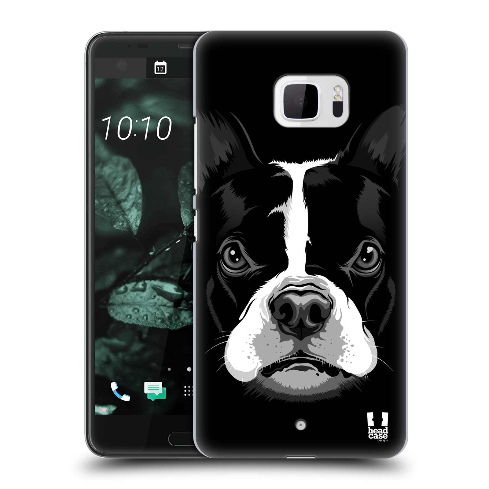 Plastové pouzdro na mobil HTC U Ultra Head Case - ILUSTROVANÝ BULDOČEK (Plastový kryt či obal na mobilní telefon HTC U Ultra (99HALT015-00))