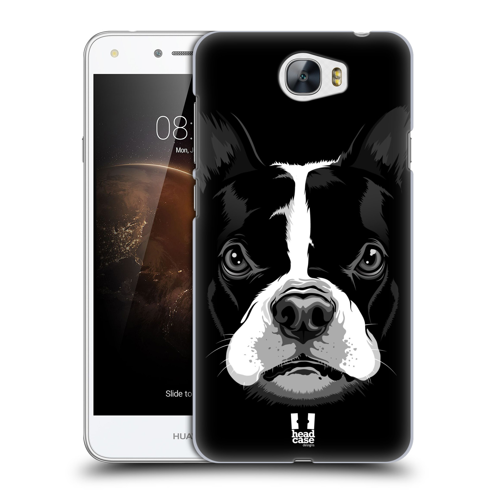 Plastové pouzdro na mobil Huawei Y5 II HEAD CASE ILUSTROVANÝ BULDOČEK