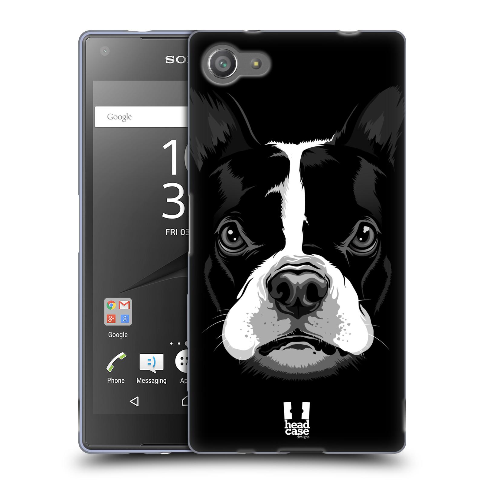 Silikonové pouzdro na mobil Sony Xperia Z5 Compact HEAD CASE ILUSTROVANÝ BULDOČEK