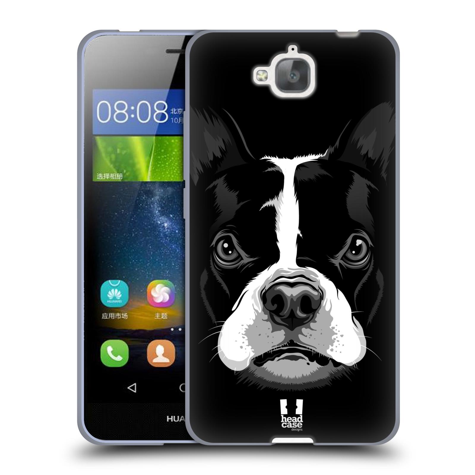 Silikonové pouzdro na mobil Huawei Y6 Pro Dual Sim HEAD CASE ILUSTROVANÝ BULDOČEK