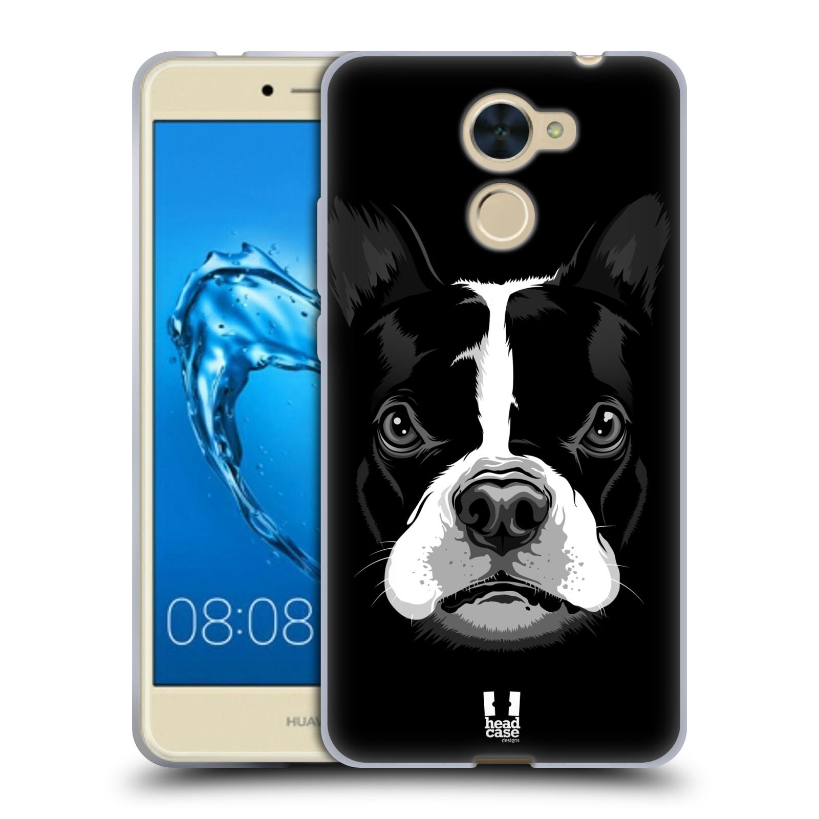 Silikonové pouzdro na mobil Huawei Y7 - Head Case - ILUSTROVANÝ BULDOČEK