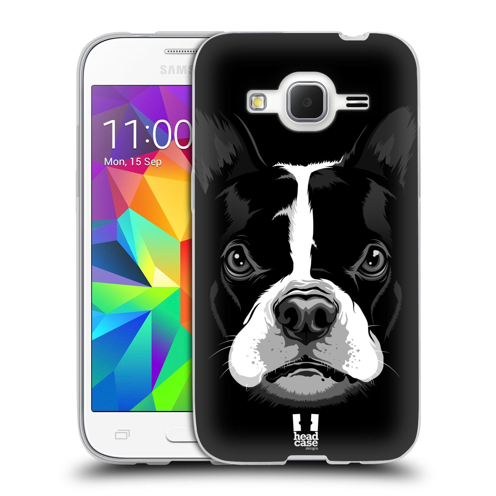 Silikonové pouzdro na mobil Samsung Galaxy Core Prime LTE HEAD CASE ILUSTROVANÝ BULDOČEK