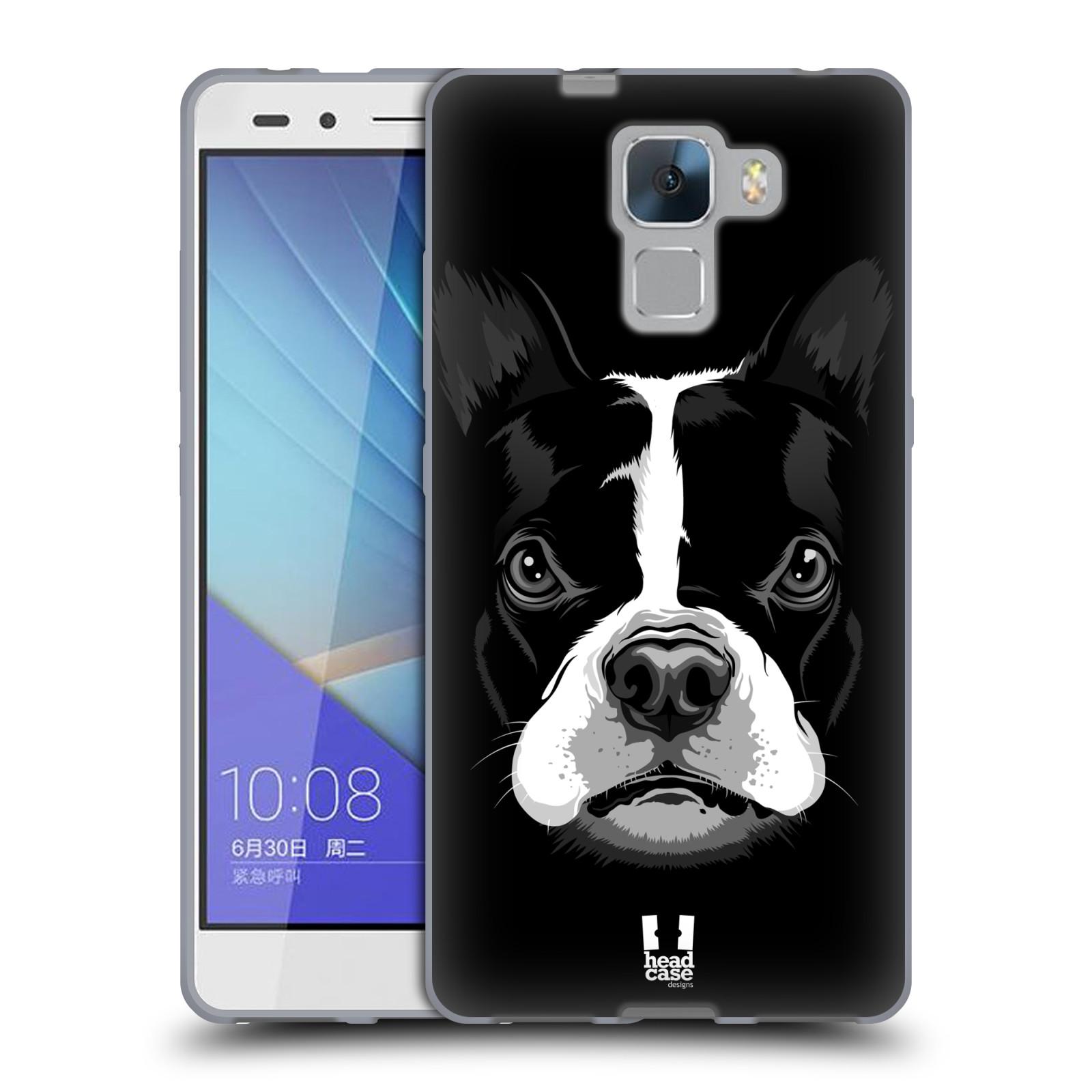 Silikonové pouzdro na mobil Honor 7 HEAD CASE ILUSTROVANÝ BULDOČEK