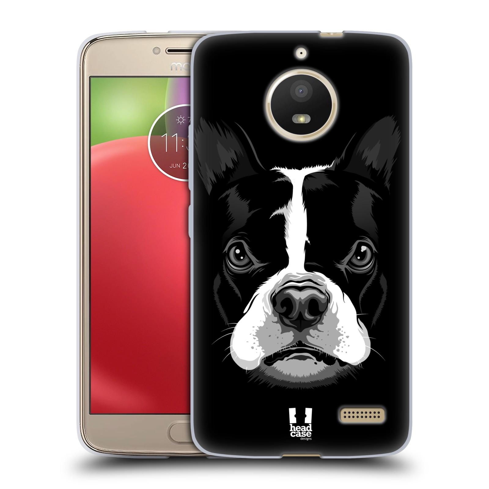 Silikonové pouzdro na mobil Lenovo Moto E4 - Head Case - ILUSTROVANÝ BULDOČEK