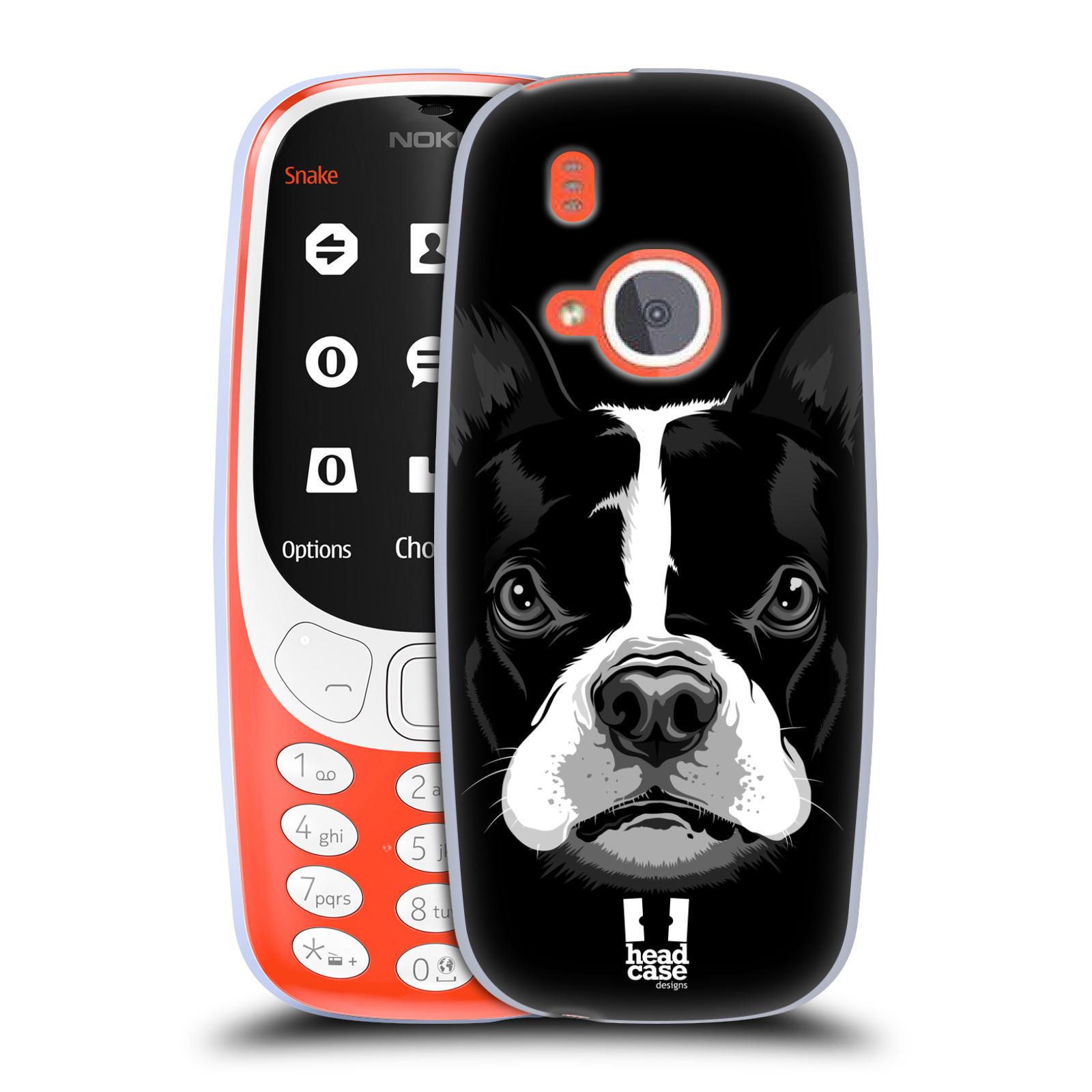 Silikonové pouzdro na mobil Nokia 3310 - Head Case - ILUSTROVANÝ BULDOČEK