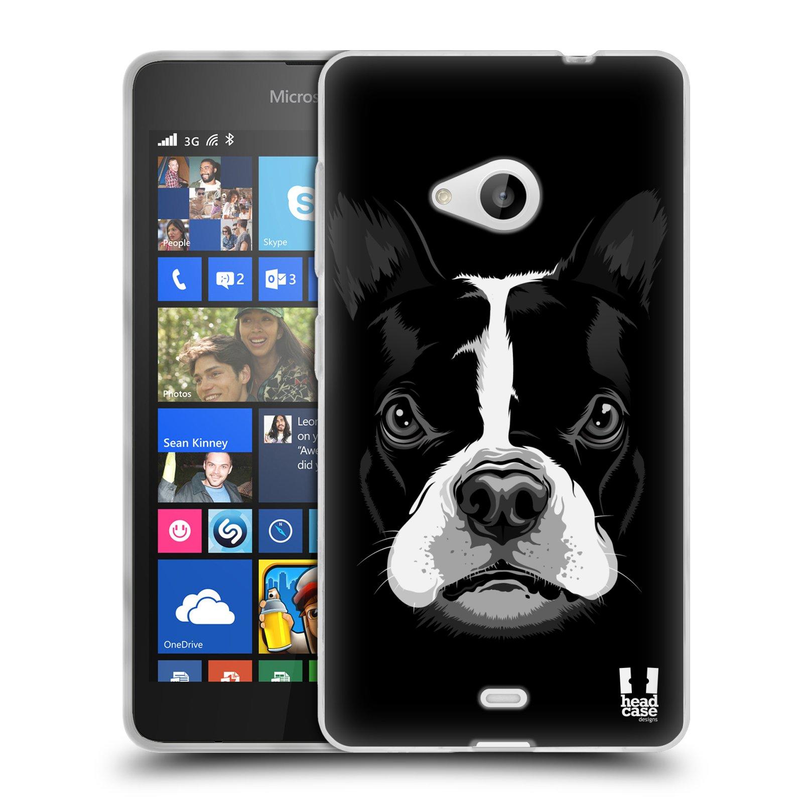 Silikonové pouzdro na mobil Microsoft Lumia 535 HEAD CASE ILUSTROVANÝ BULDOČEK