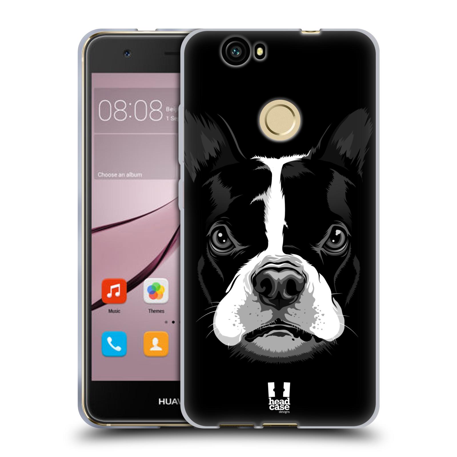 Silikonové pouzdro na mobil Huawei Nova - Head Case - ILUSTROVANÝ BULDOČEK