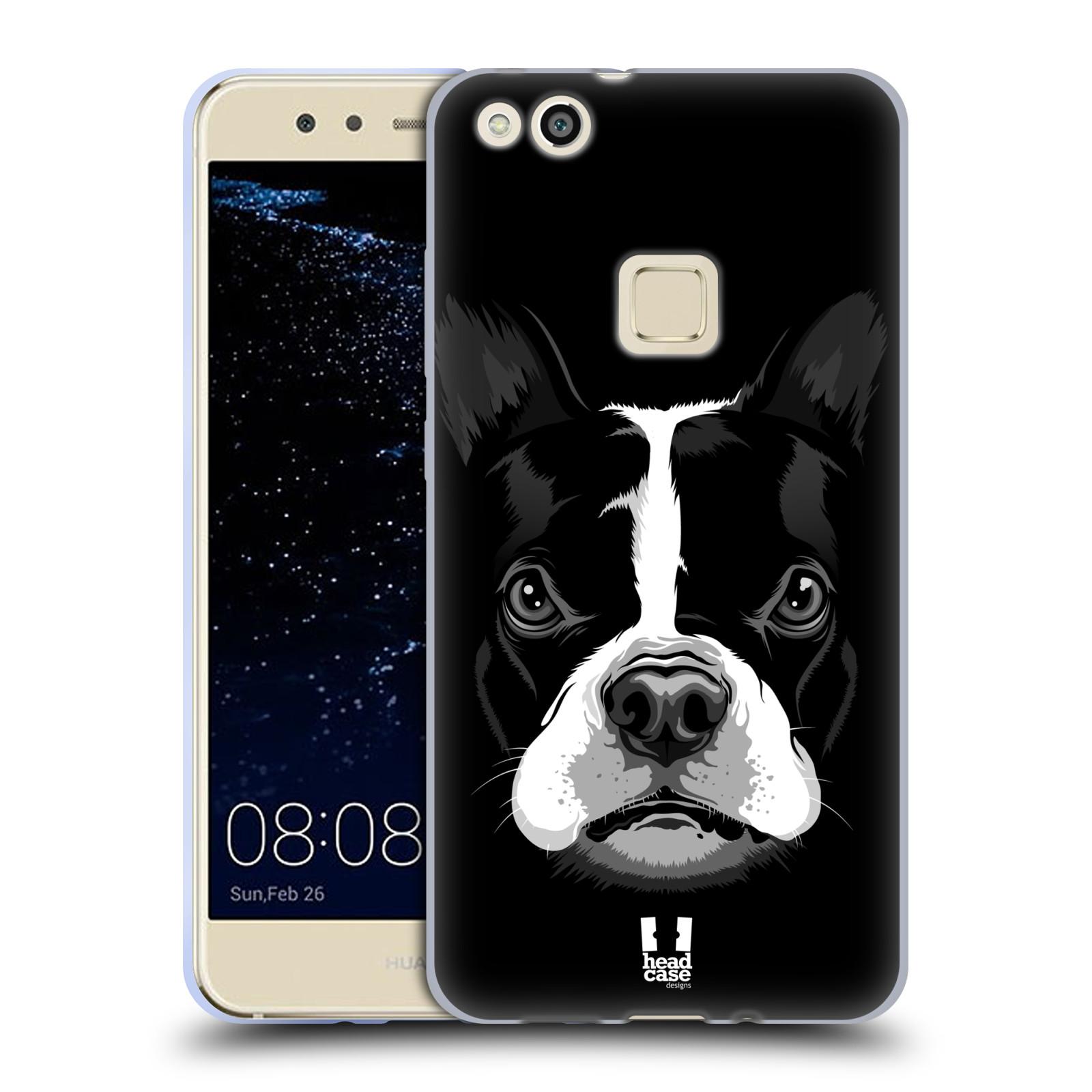 Silikonové pouzdro na mobil Huawei P10 Lite Head Case - ILUSTROVANÝ BULDOČEK