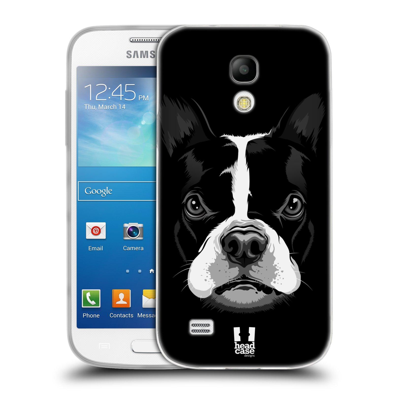 Silikonové pouzdro na mobil Samsung Galaxy S4 Mini HEAD CASE ILUSTROVANÝ BULDOČEK