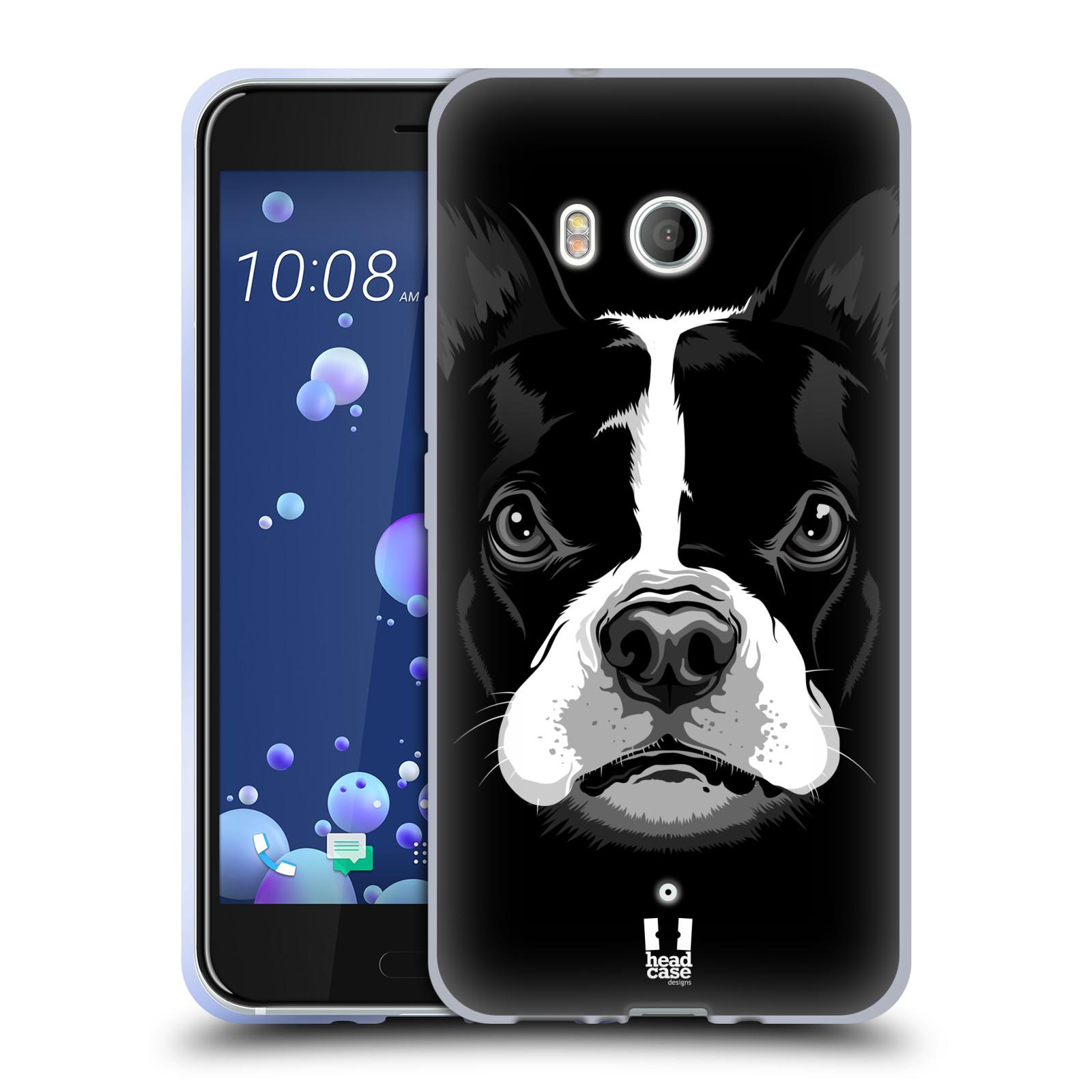 Silikonové pouzdro na mobil HTC U11 - Head Case - ILUSTROVANÝ BULDOČEK