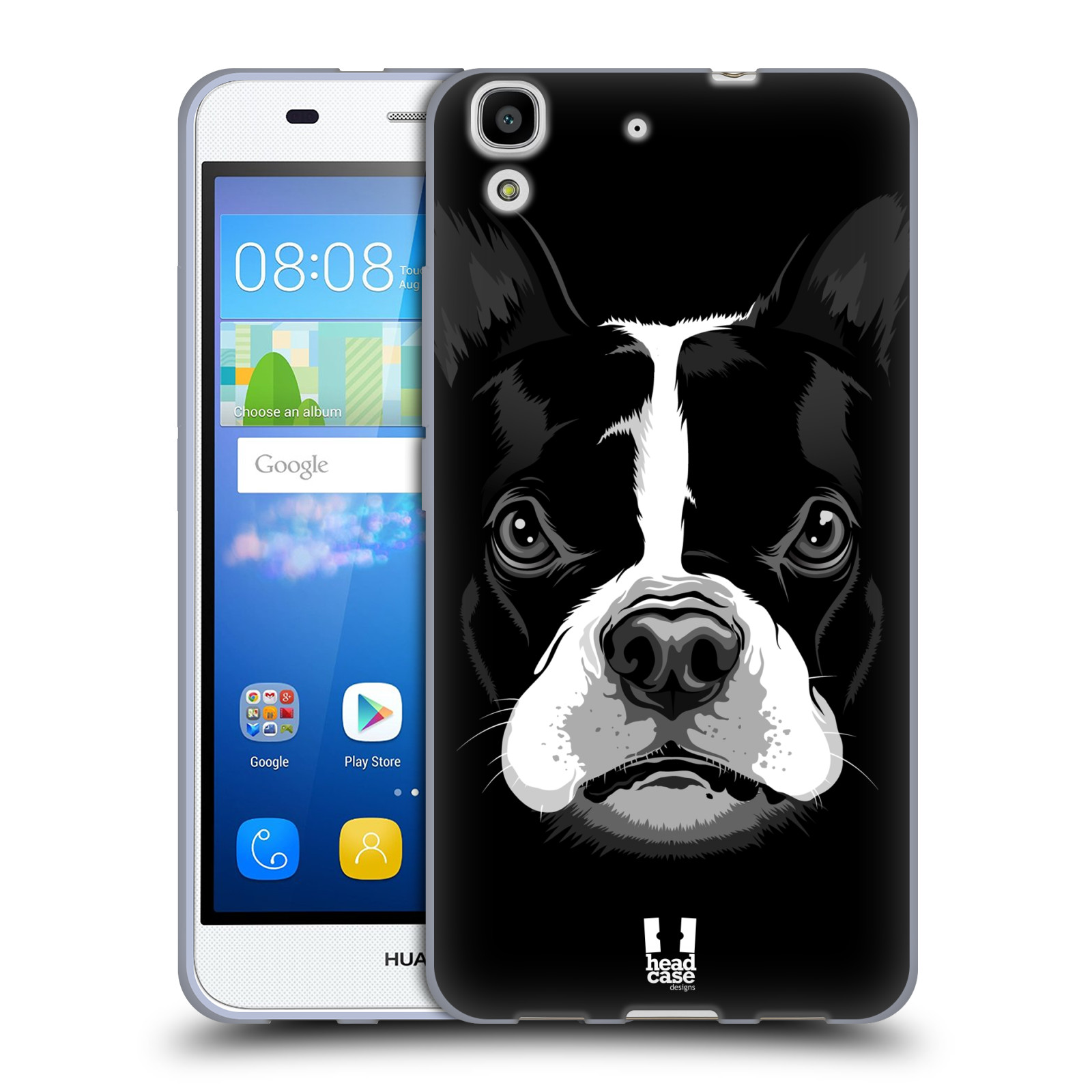 Silikonové pouzdro na mobil Huawei Y6 HEAD CASE ILUSTROVANÝ BULDOČEK