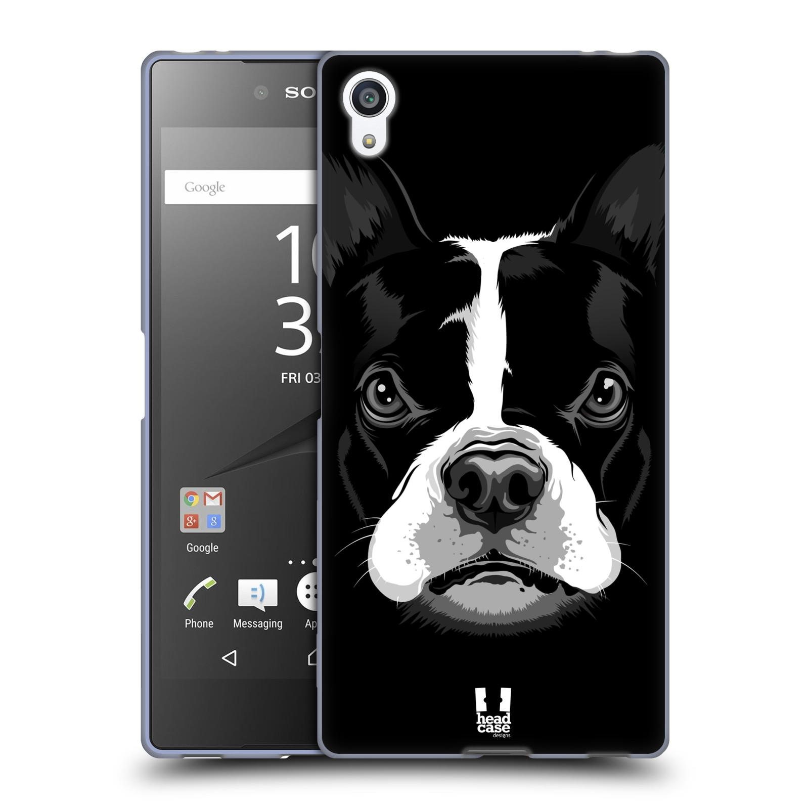 Silikonové pouzdro na mobil Sony Xperia Z5 Premium HEAD CASE ILUSTROVANÝ BULDOČEK