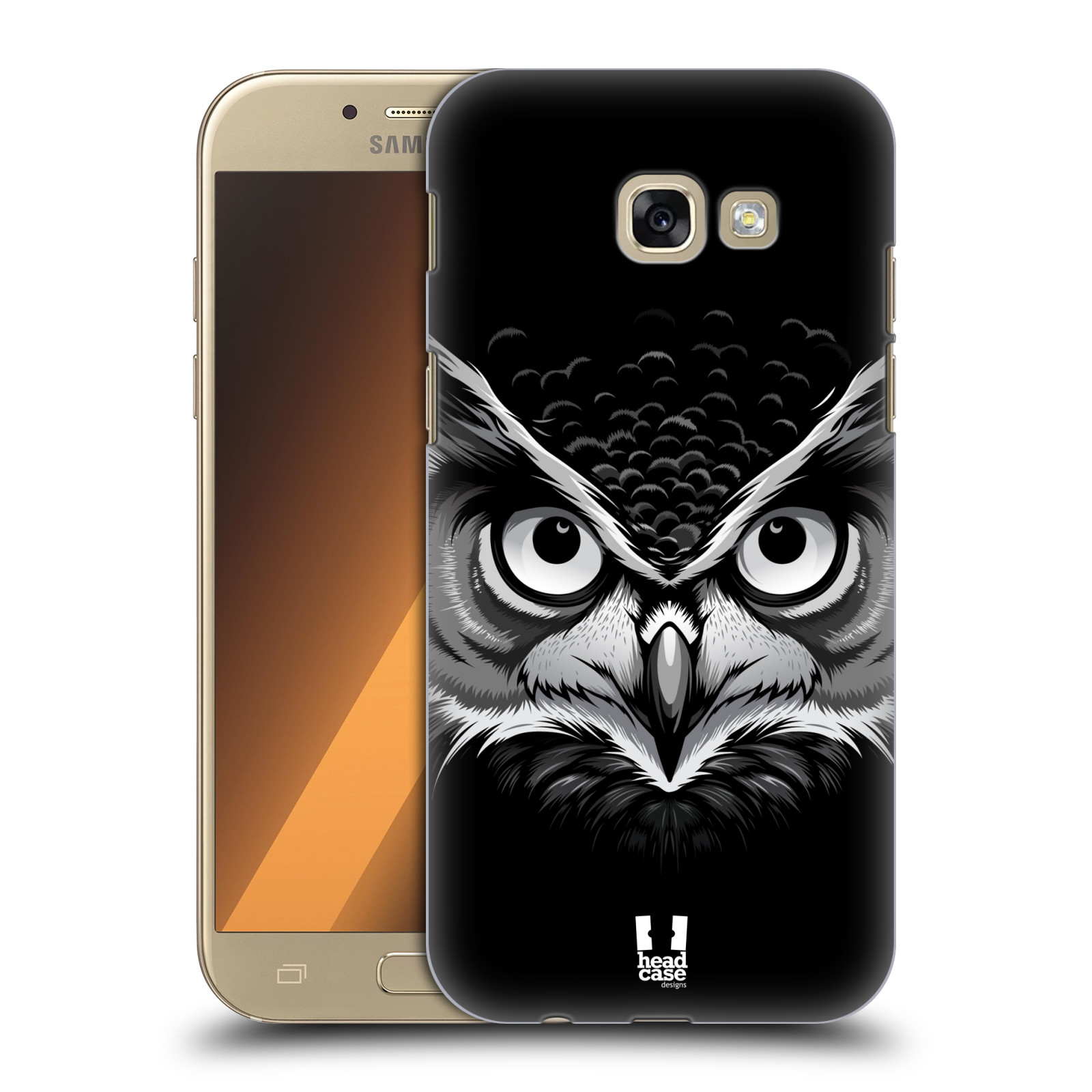Plastové pouzdro na mobil Samsung Galaxy A5 (2017) HEAD CASE ILUSTROVANÁ SOVA