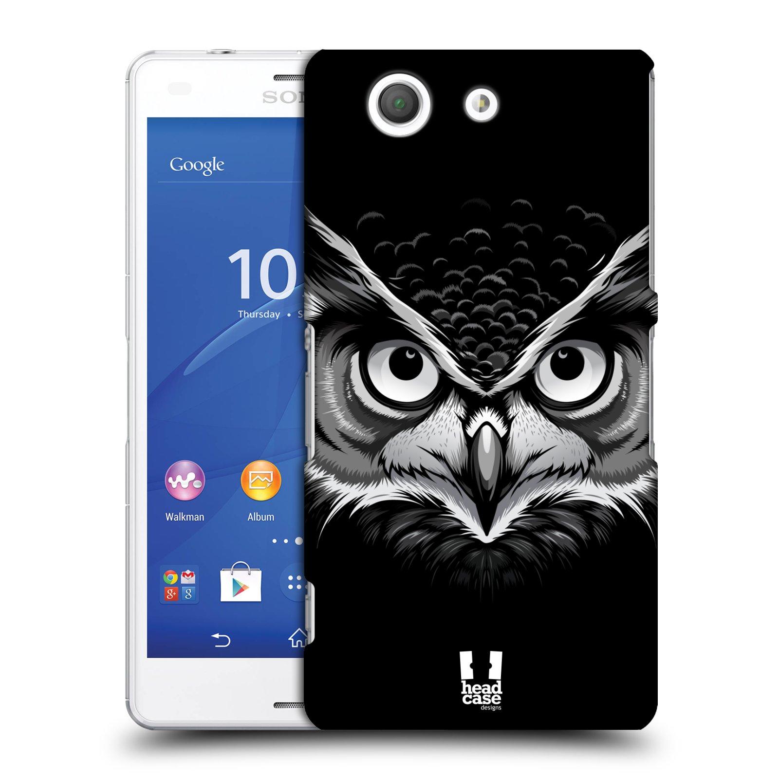 Plastové pouzdro na mobil Sony Xperia Z3 Compact D5803 HEAD CASE ILUSTROVANÁ SOVA