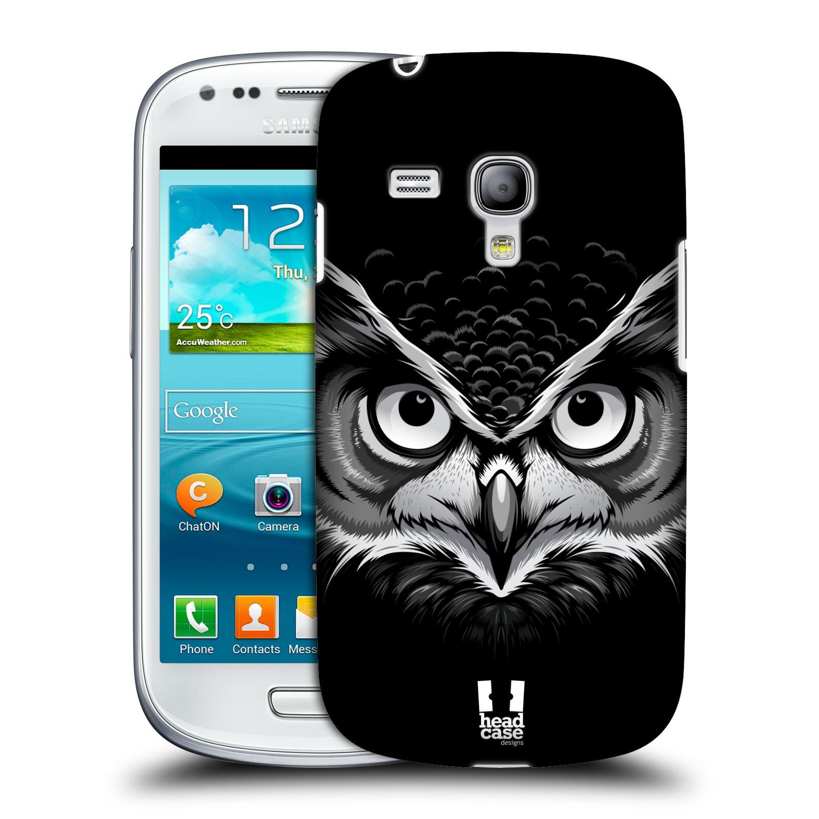 Plastové pouzdro na mobil Samsung Galaxy S3 Mini VE HEAD CASE ILUSTROVANÁ SOVA (Kryt či obal na mobilní telefon Samsung Galaxy S3 Mini VE GT-i8200)