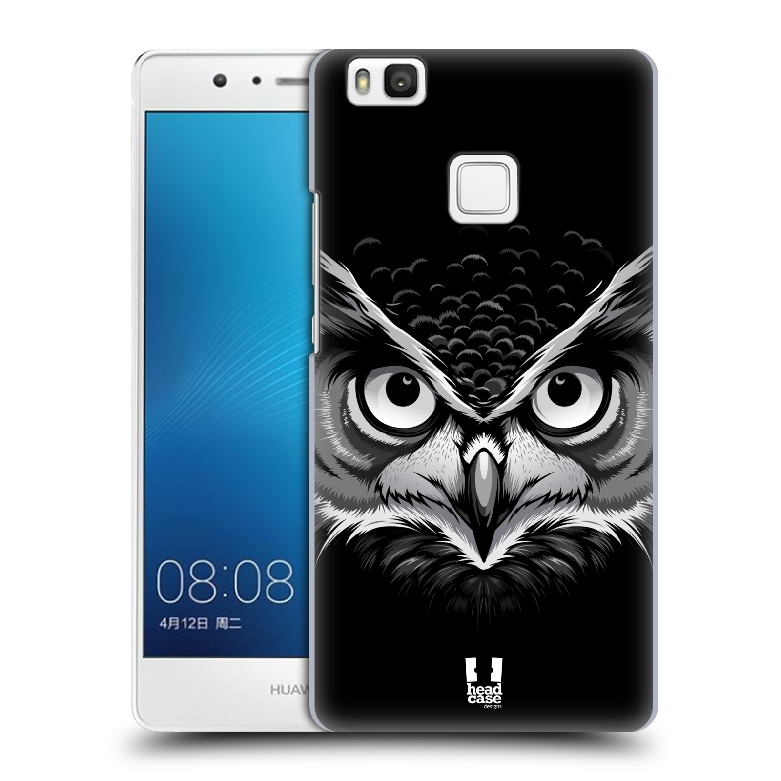 Plastové pouzdro na mobil Huawei P9 Lite HEAD CASE ILUSTROVANÁ SOVA