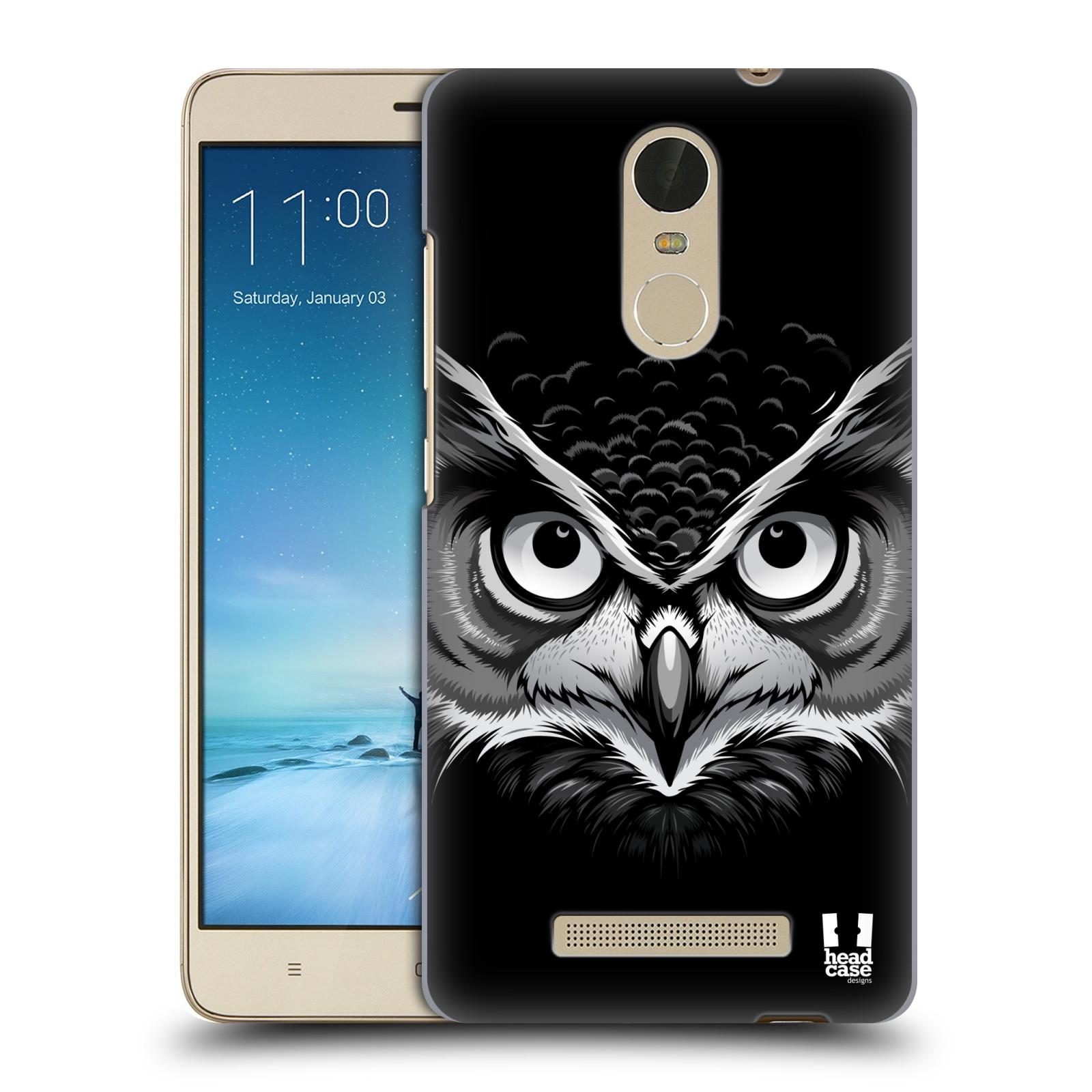"Plastové pouzdro na mobil Xiaomi Redmi Note 3 HEAD CASE ILUSTROVANÁ SOVA (Kryt či obal na mobilní telefon Xiaomi Redmi Note 3 s 5,5"" displejem)"
