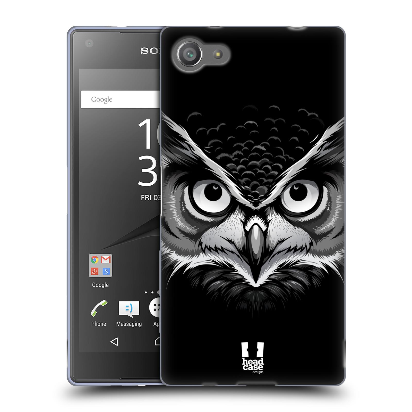 Silikonové pouzdro na mobil Sony Xperia Z5 Compact HEAD CASE ILUSTROVANÁ SOVA