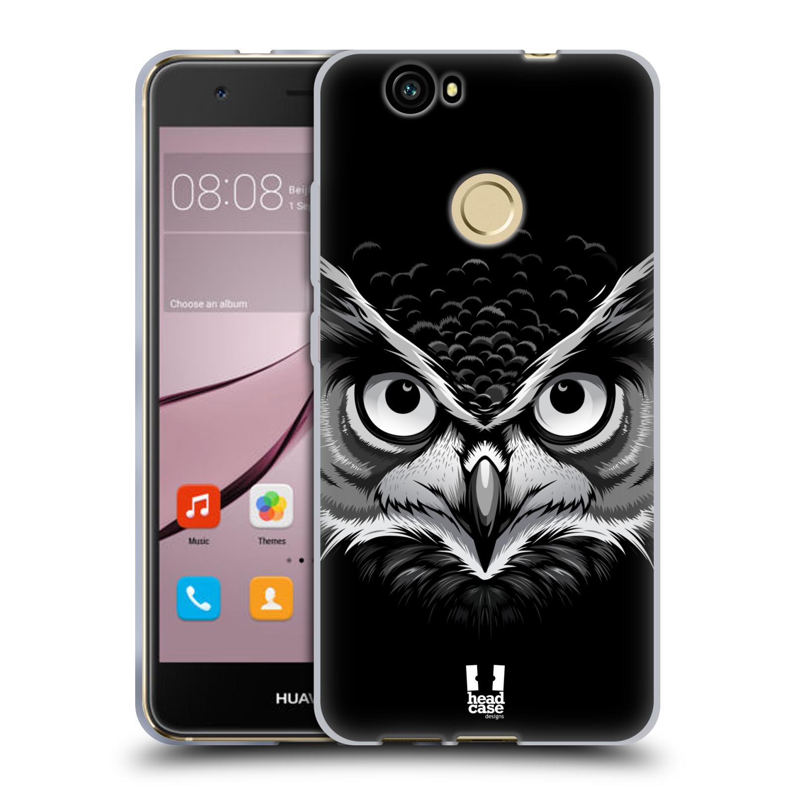 Silikonové pouzdro na mobil Huawei Nova - Head Case - ILUSTROVANÁ SOVA