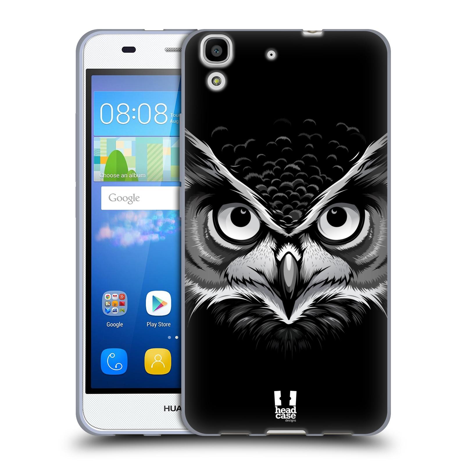 Silikonové pouzdro na mobil Huawei Y6 HEAD CASE ILUSTROVANÁ SOVA