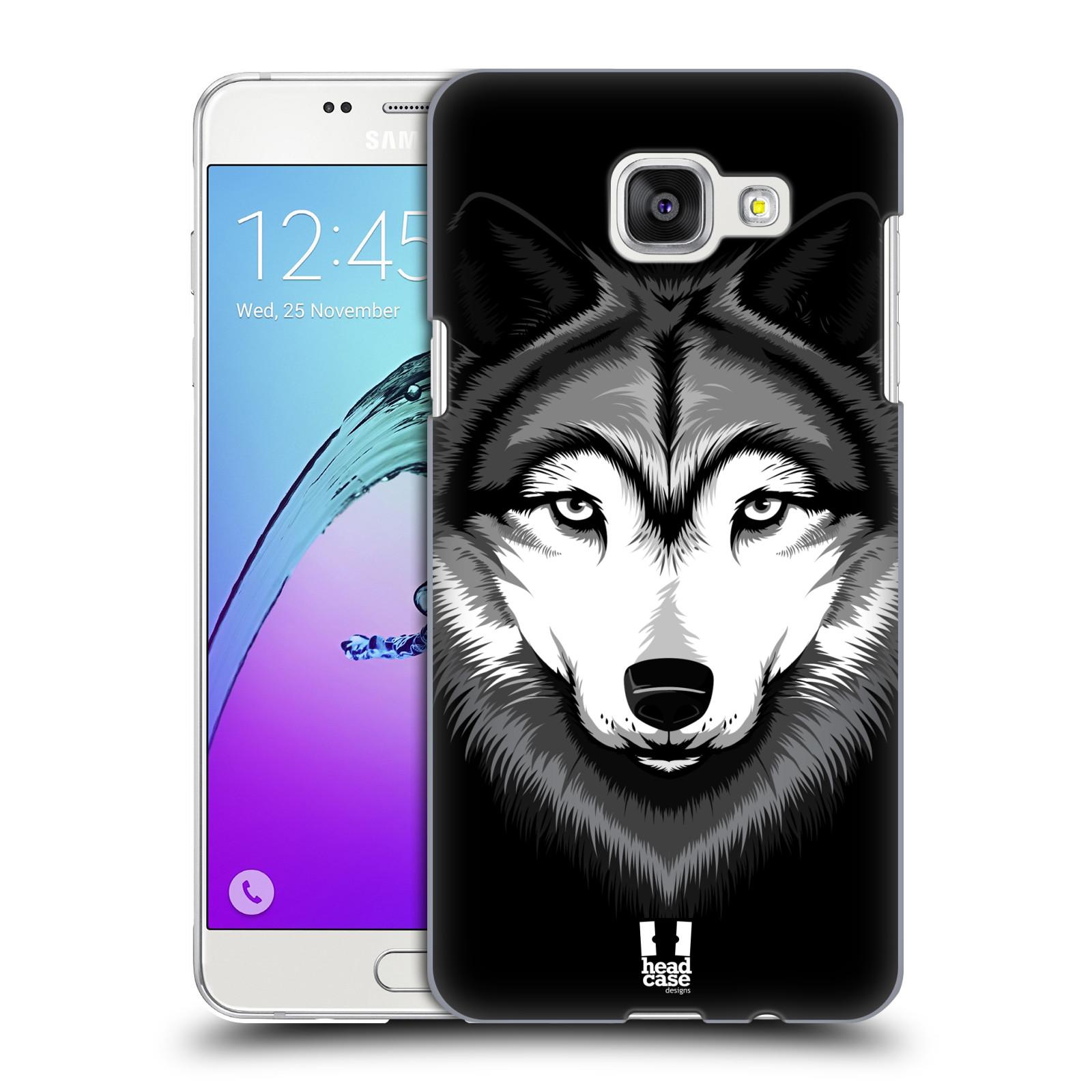 Plastové pouzdro na mobil Samsung Galaxy A5 (2016) HEAD CASE ILUSTROVANÝ VLK