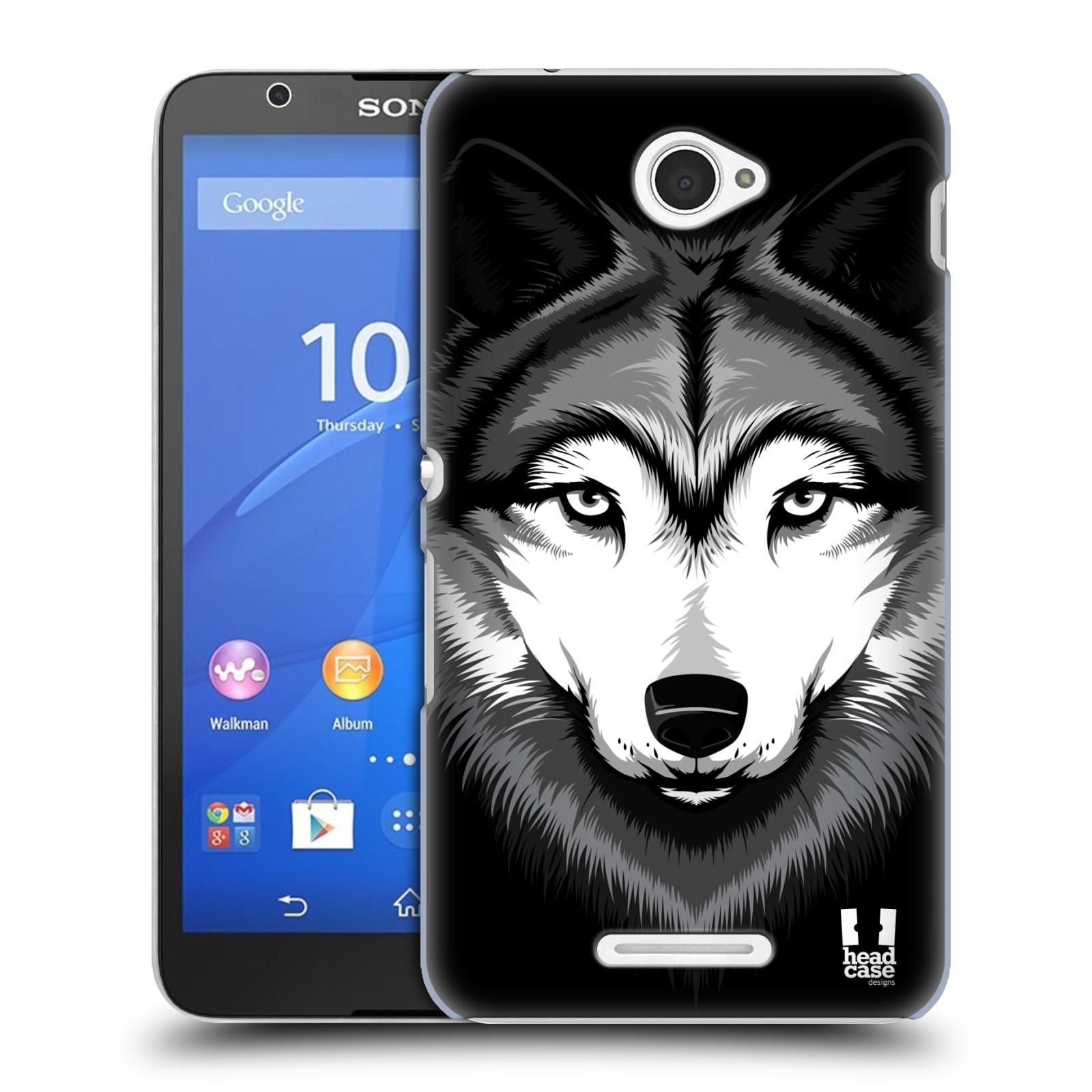 Plastové pouzdro na mobil Sony Xperia E4 E2105 HEAD CASE ILUSTROVANÝ VLK