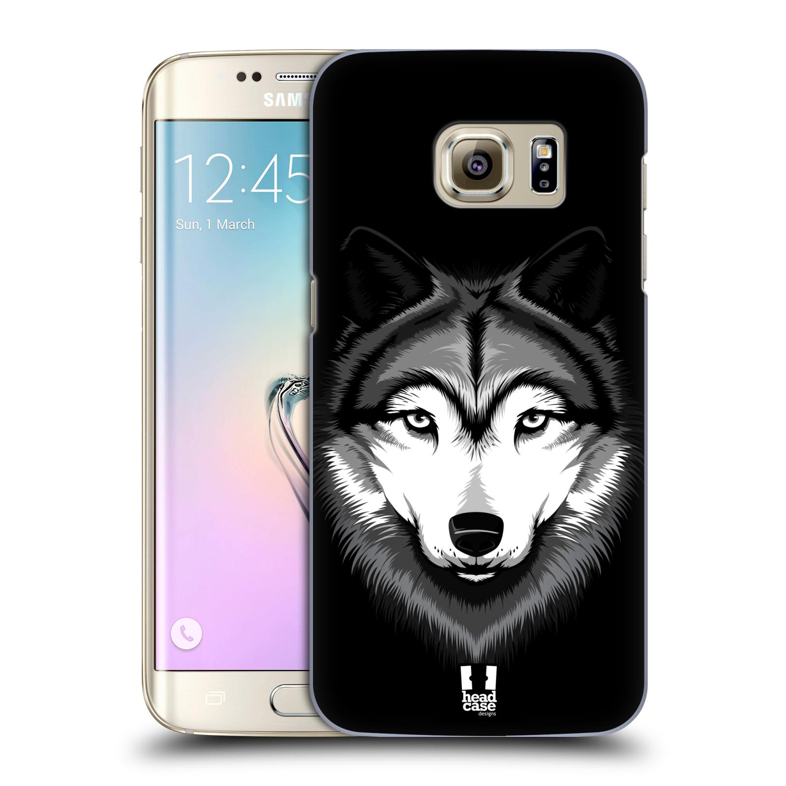 Plastové pouzdro na mobil Samsung Galaxy S7 Edge HEAD CASE ILUSTROVANÝ VLK