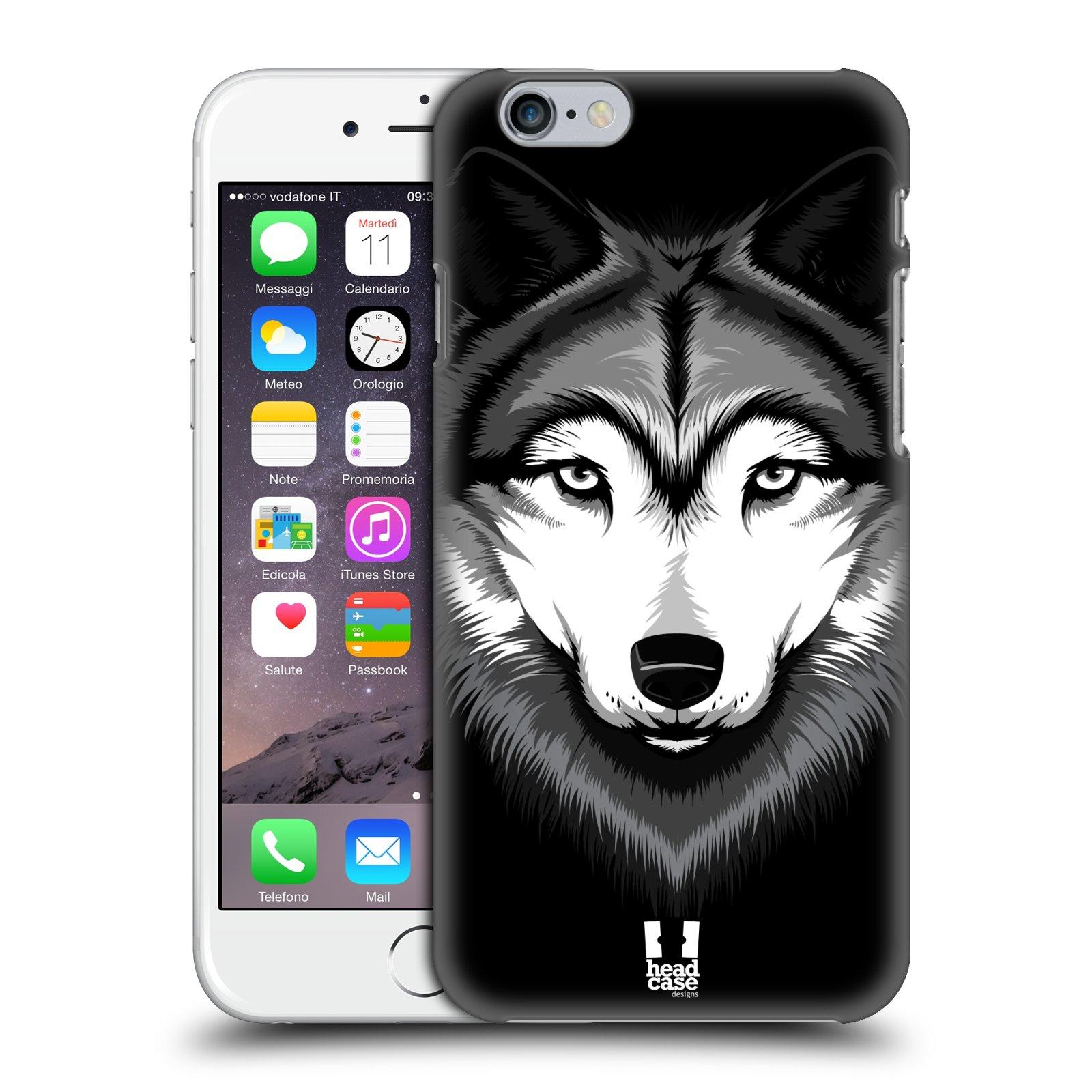 Plastové pouzdro na mobil Apple iPhone 6 a 6S HEAD CASE ILUSTROVANÝ VLK
