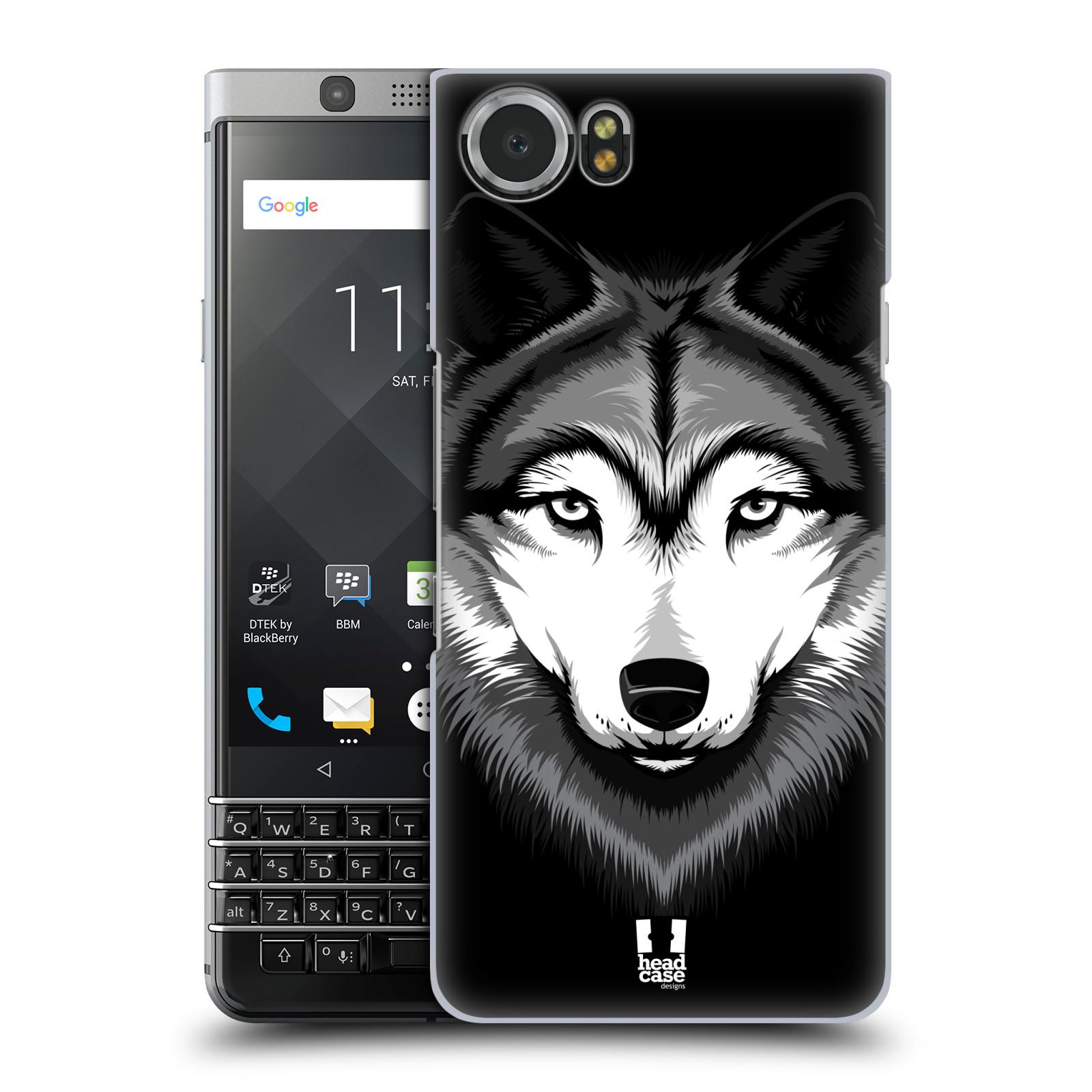 Plastové pouzdro na mobil BlackBerry KEYone - Head Case - ILUSTROVANÝ VLK