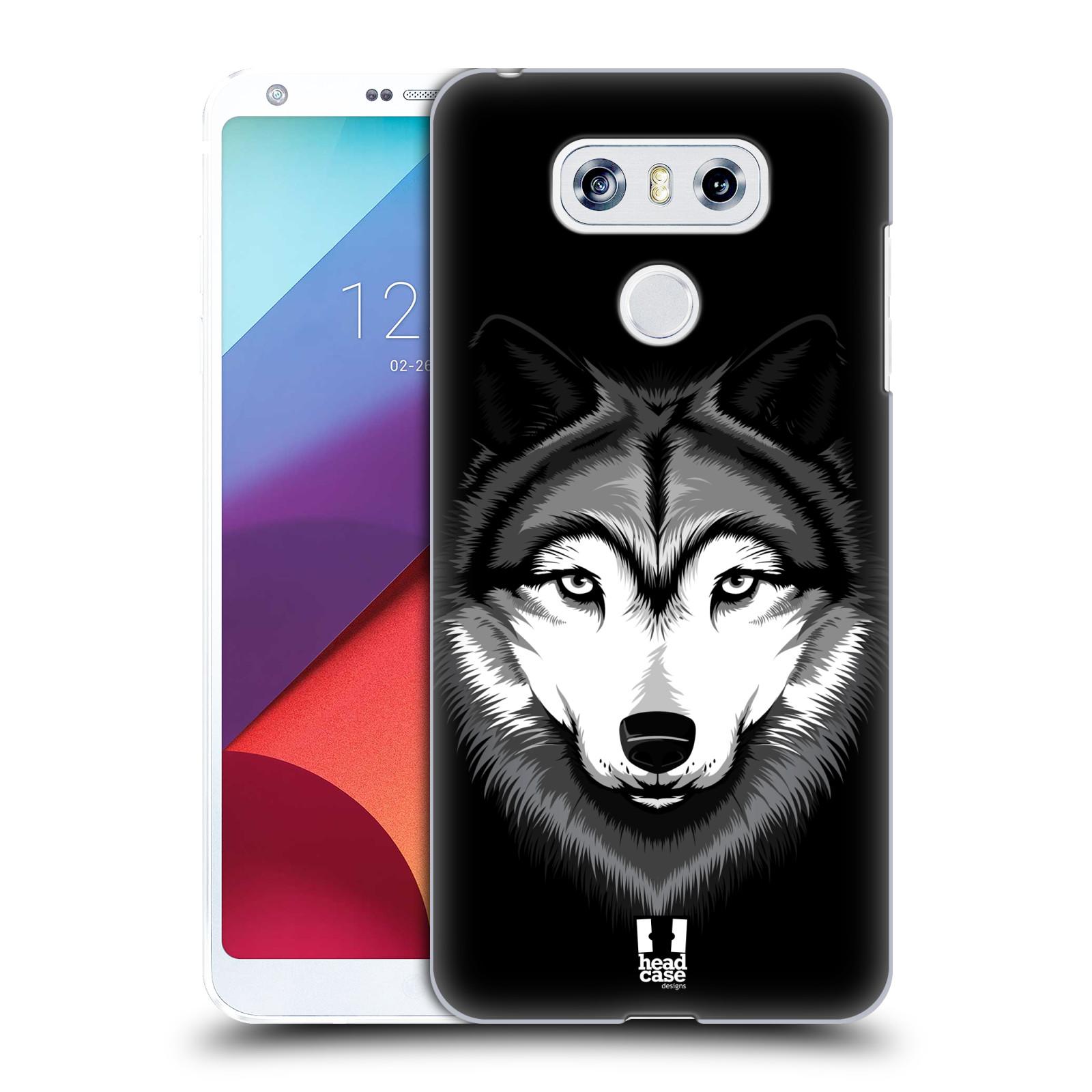 Plastové pouzdro na mobil LG G6 - Head Case ILUSTROVANÝ VLK