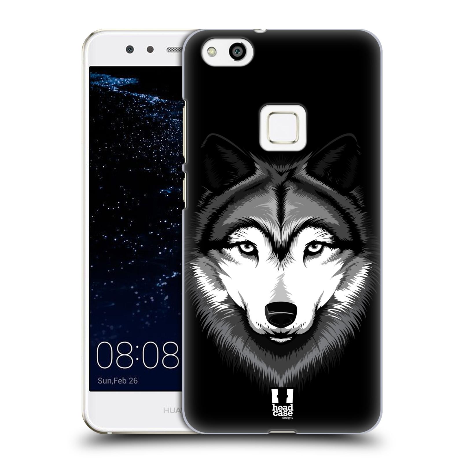 Plastové pouzdro na mobil Huawei P10 Lite Head Case - ILUSTROVANÝ VLK (Plastový kryt či obal na mobilní telefon Huawei P10 Lite Dual SIM (LX1/LX1A))