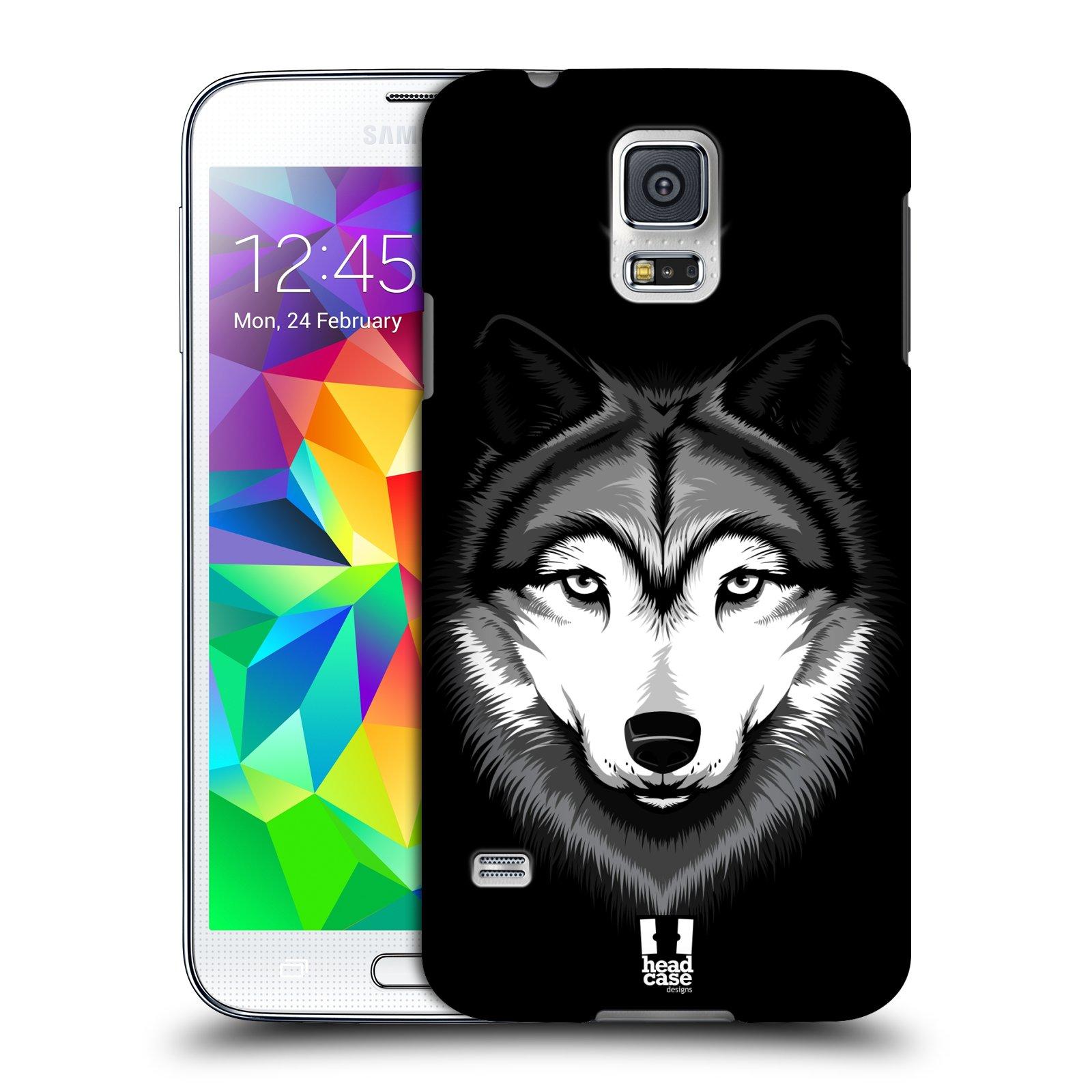 Plastové pouzdro na mobil Samsung Galaxy S5 HEAD CASE ILUSTROVANÝ VLK